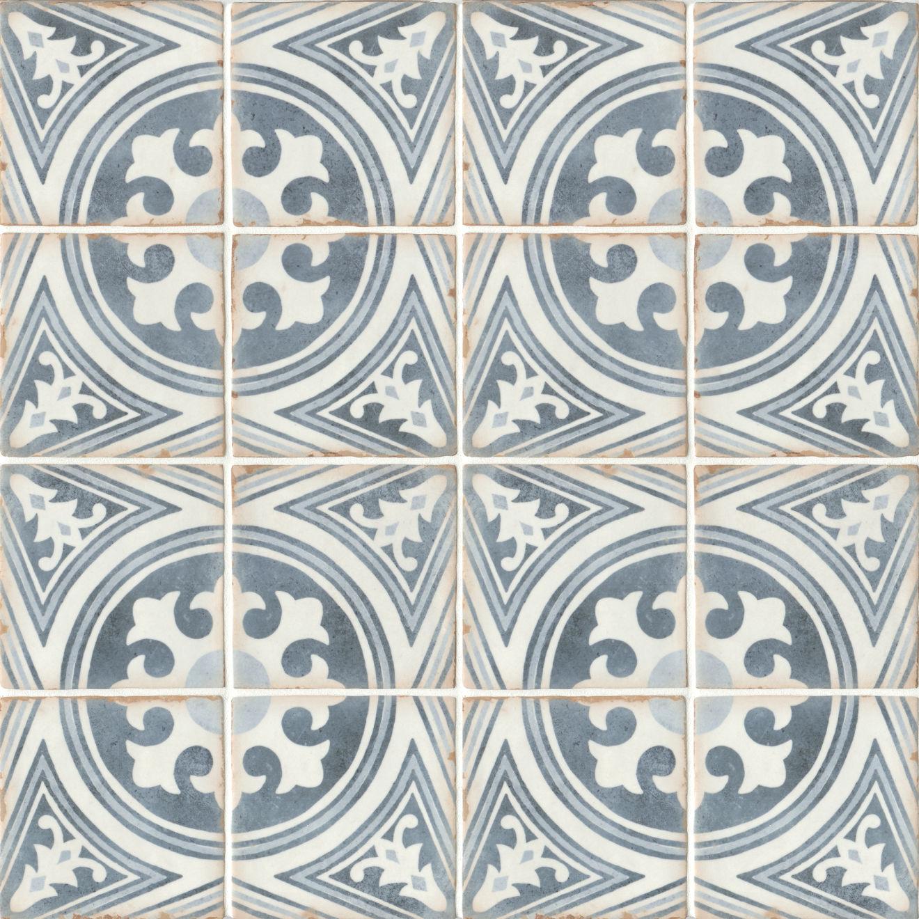 "Casablanca 5"" x 5"" Matte Ceramic Floor and Wall Tile in Anfa"