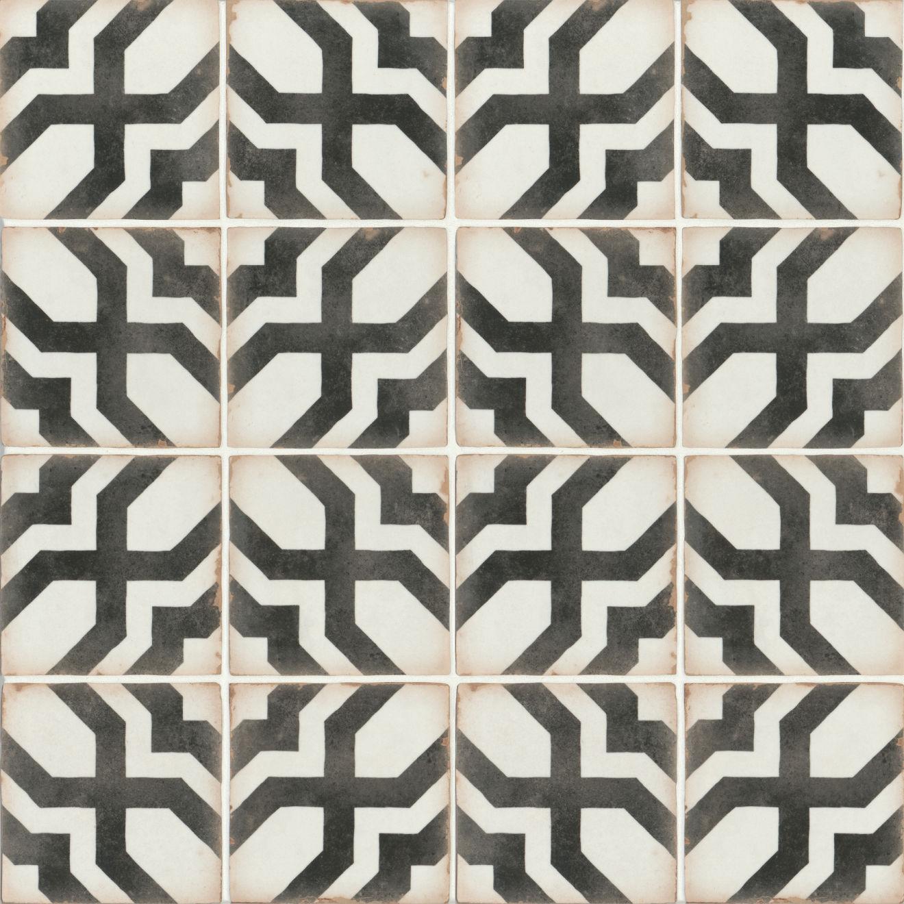 "Casablanca 5"" x 5"" Matte Ceramic Floor and Wall Tile in Farissi"
