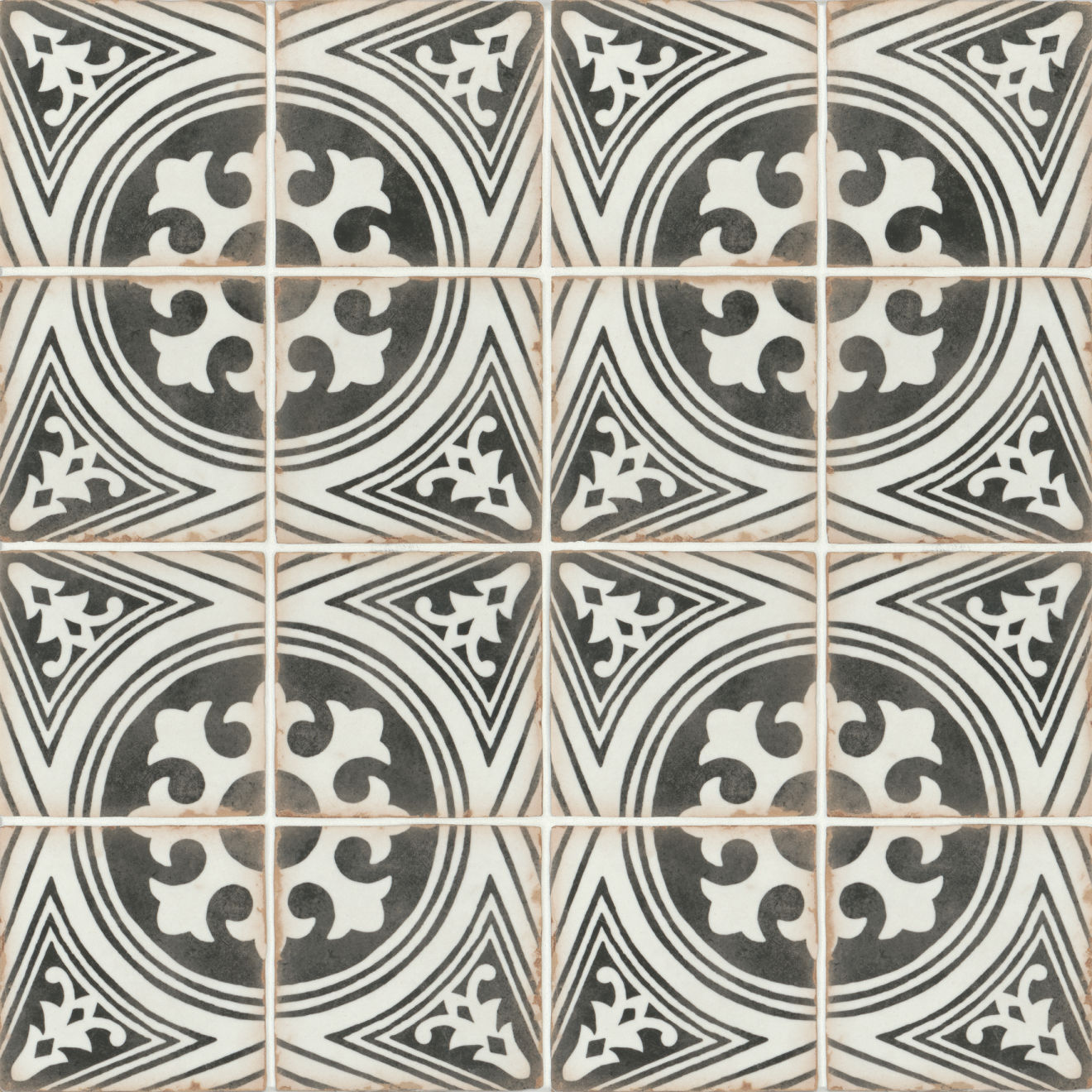 "Casablanca 5"" x 5"" Matte Ceramic Floor and Wall Tile in Fida"
