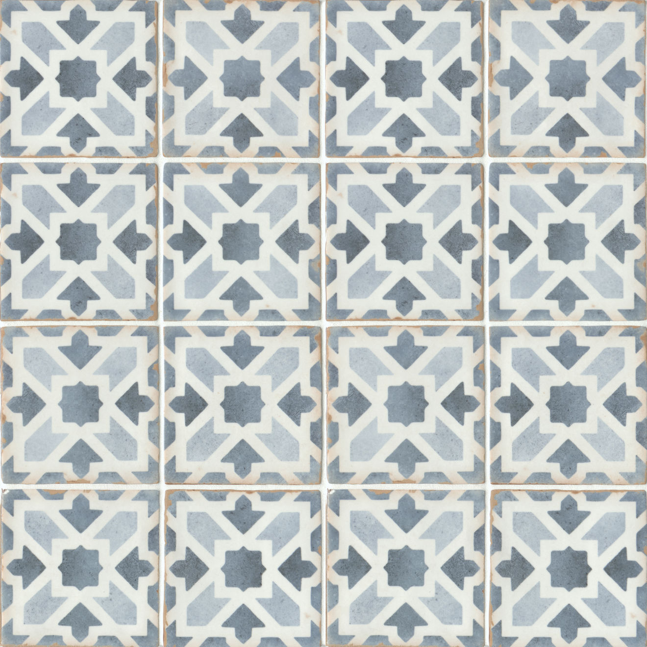 "Casablanca 5"" x 5"" Matte Ceramic Floor and Wall Tile in Gaza"