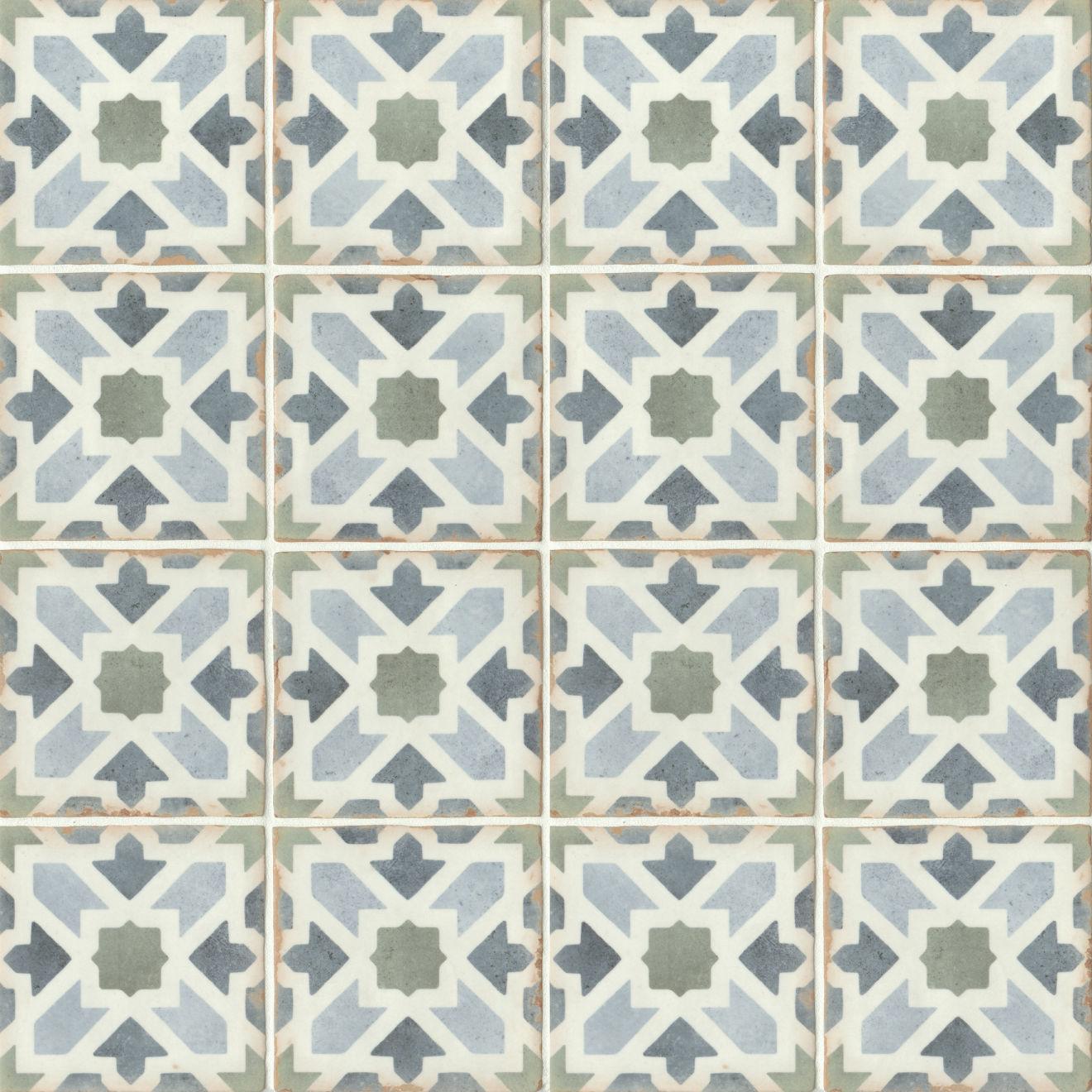 "Casablanca 5"" x 5"" Matte Ceramic Floor and Wall Tile in Kenzi"