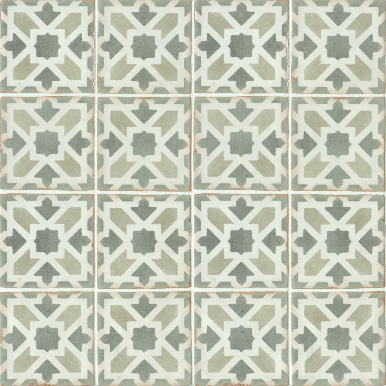 "Casablanca 5"" x 5"" Matte Ceramic Floor and Wall Tile in Malik"