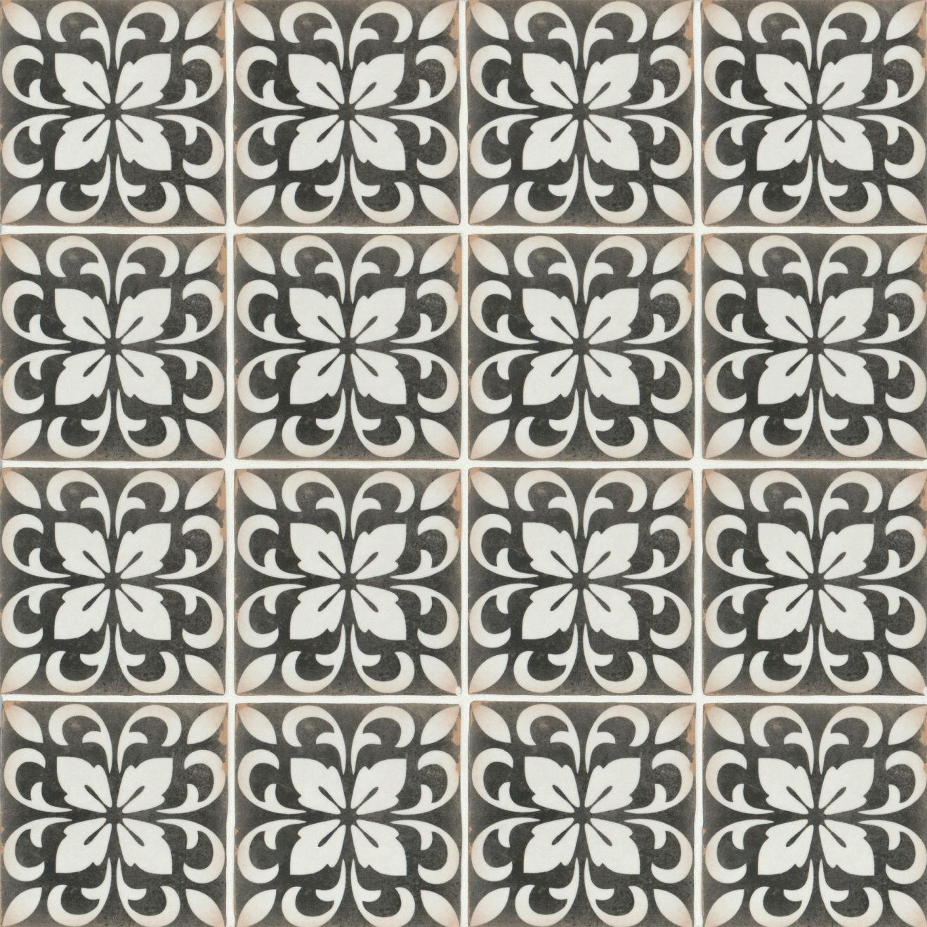 "Casablanca 5"" x 5"" Matte Ceramic Floor and Wall Tile in Rialto"