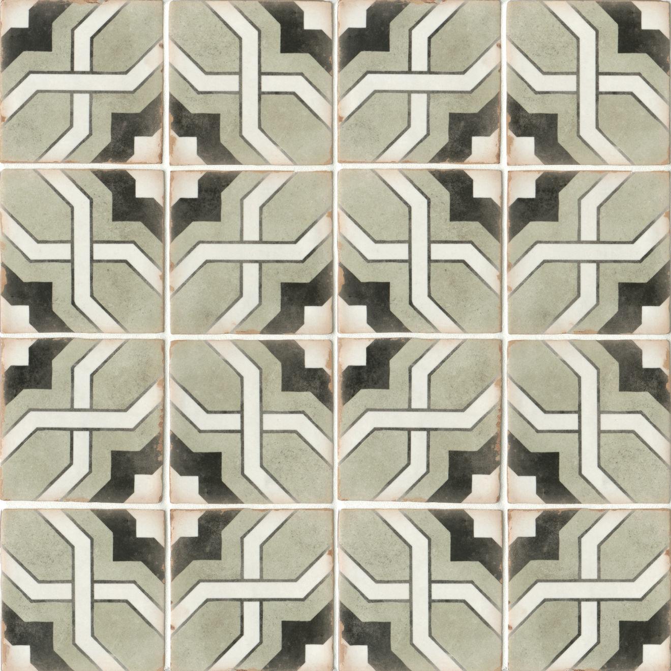 "Casablanca 5"" x 5"" Matte Ceramic Floor and Wall Tile in Torres"