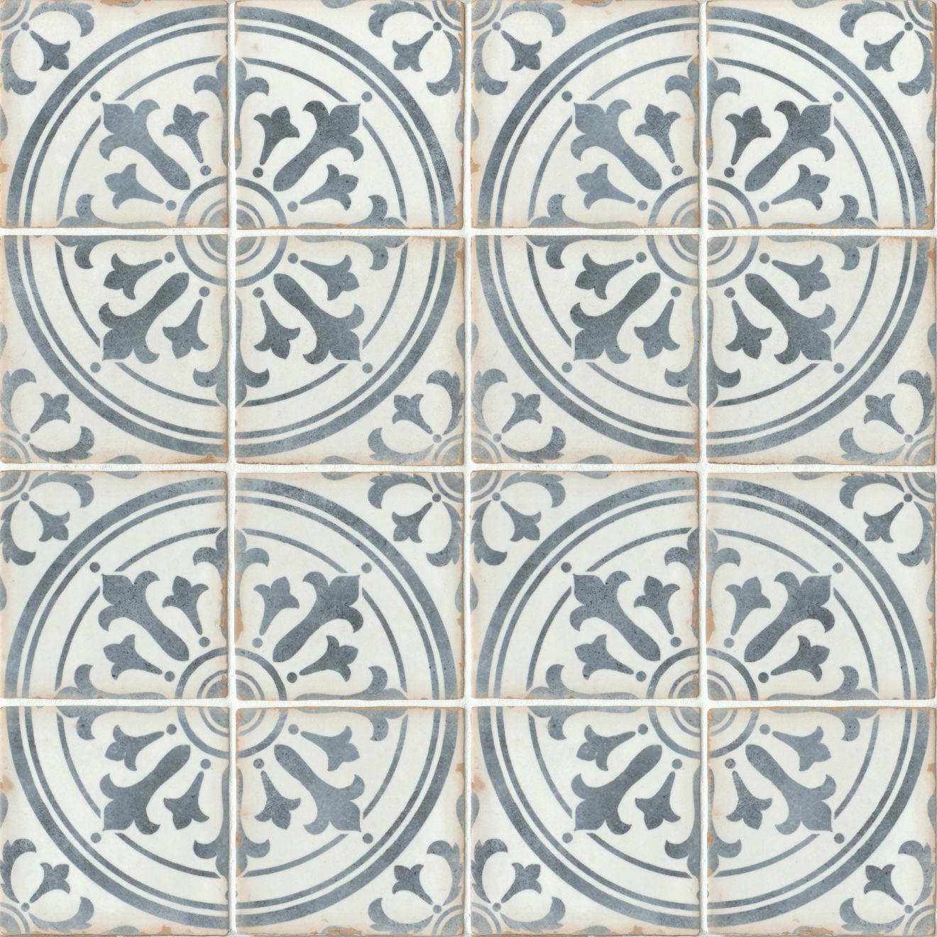 "Casablanca 5"" x 5"" Matte Ceramic Floor and Wall Tile in Ziane"