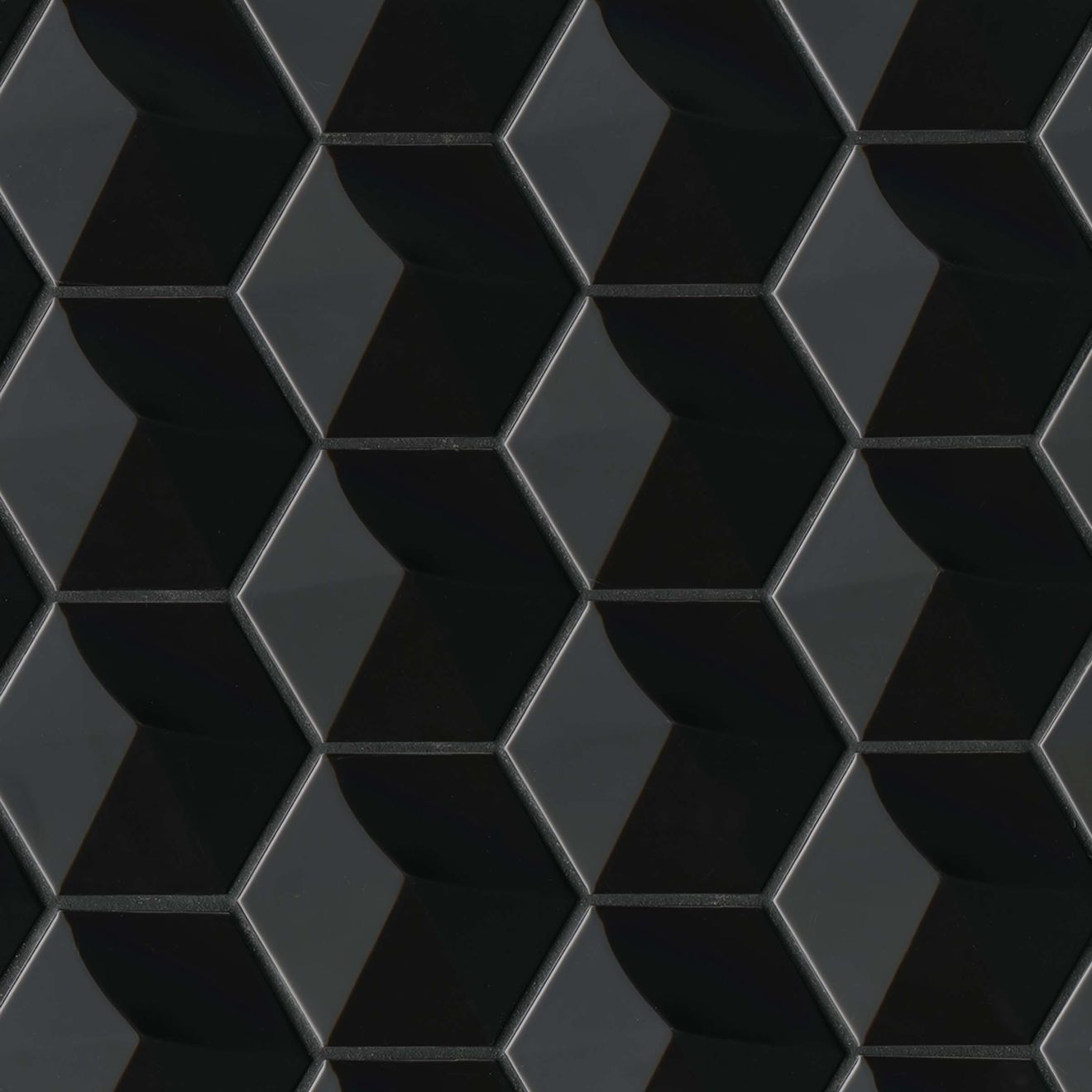 """Hedron 4"""" x 5"""" Wall Tile in Black"""