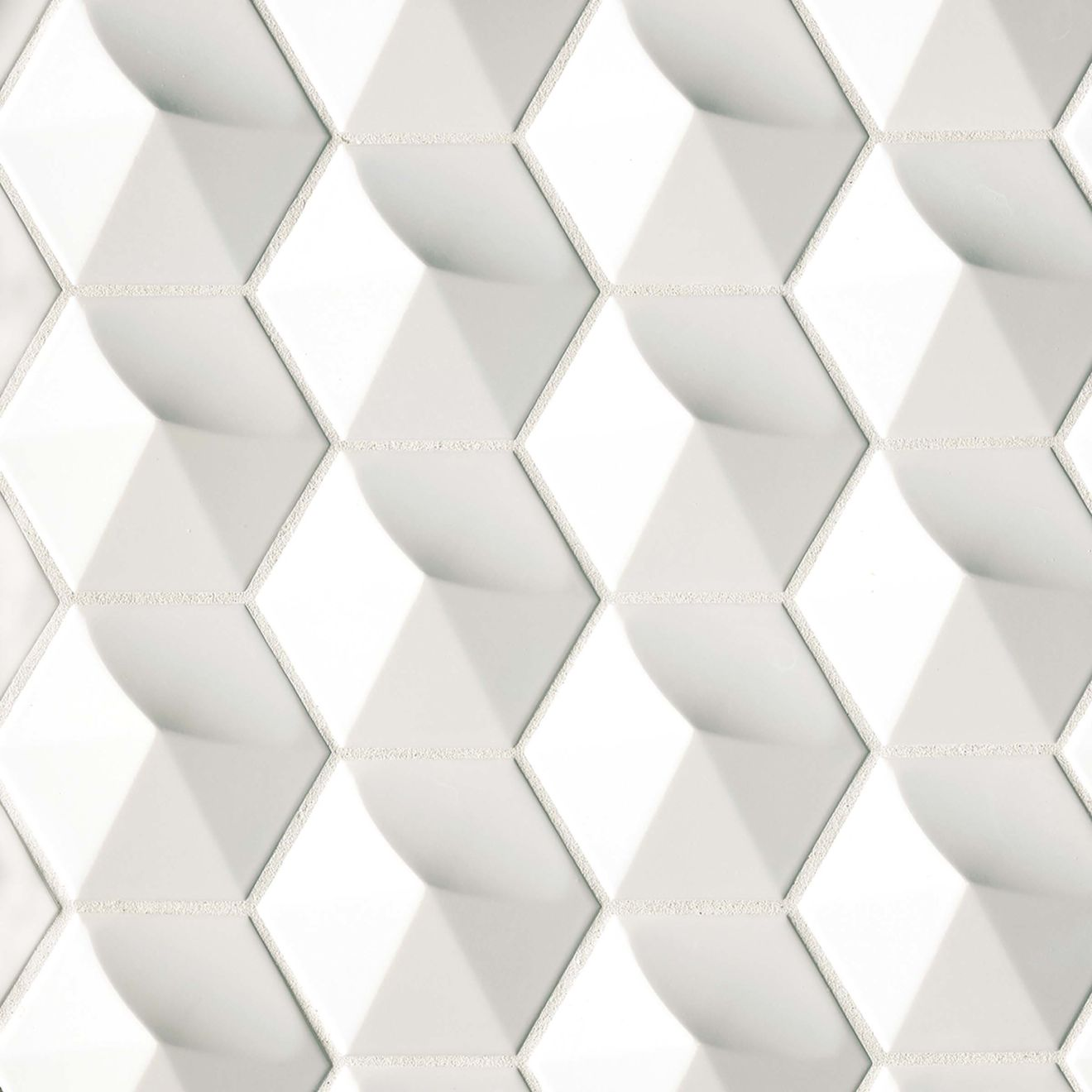 """Hedron 4"""" x 5"""" Wall Tile in Bright White Pearl"""
