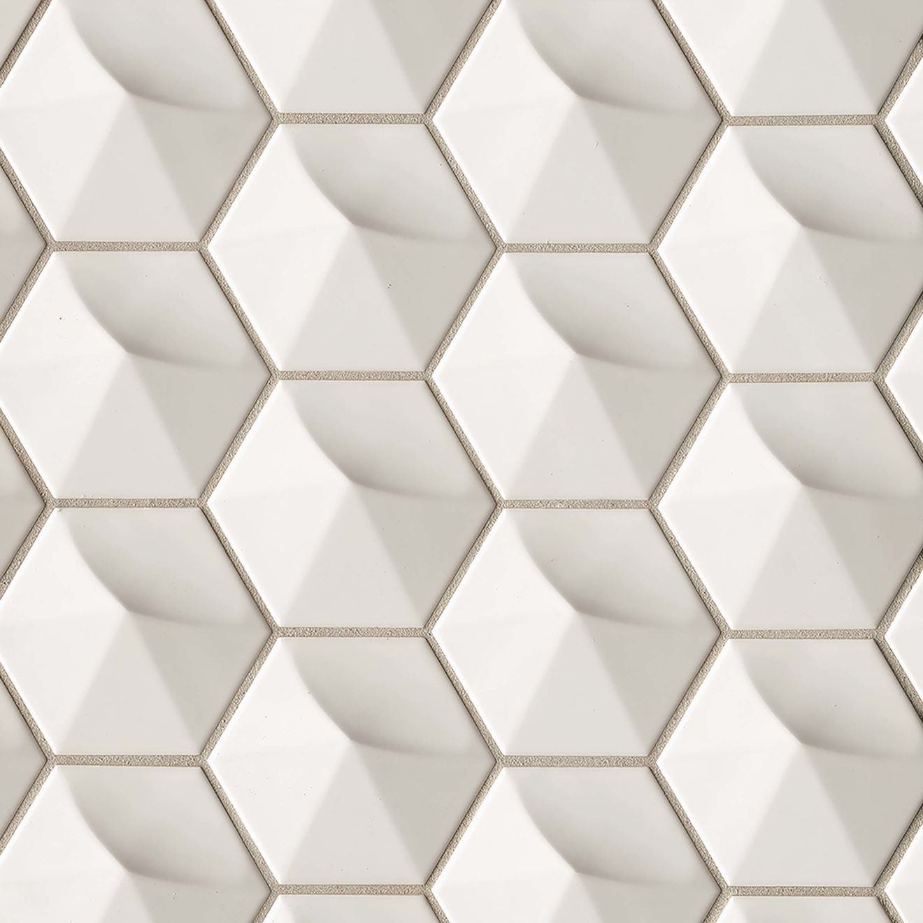 """Hedron 4"""" x 5"""" Wall Tile in Fog"""