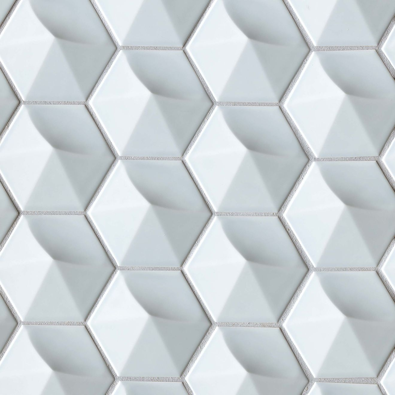 """Hedron 4"""" x 5"""" Wall Tile in Sky Blue"""