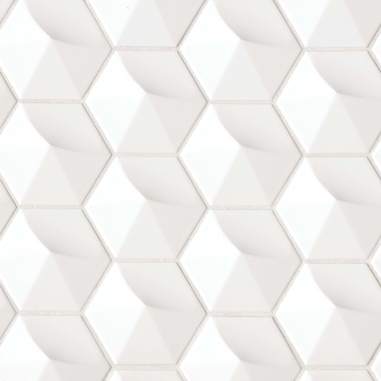 """Hedron 4"""" x 5"""" Wall Tile in White"""