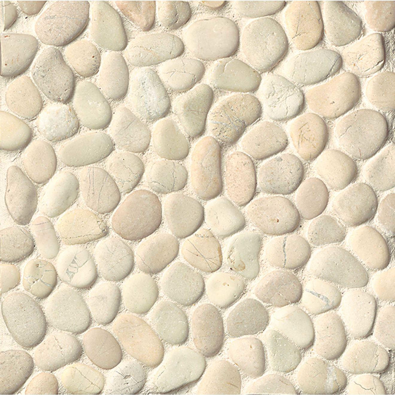 Hemisphere Floor & Wall Mosaic in Bali White