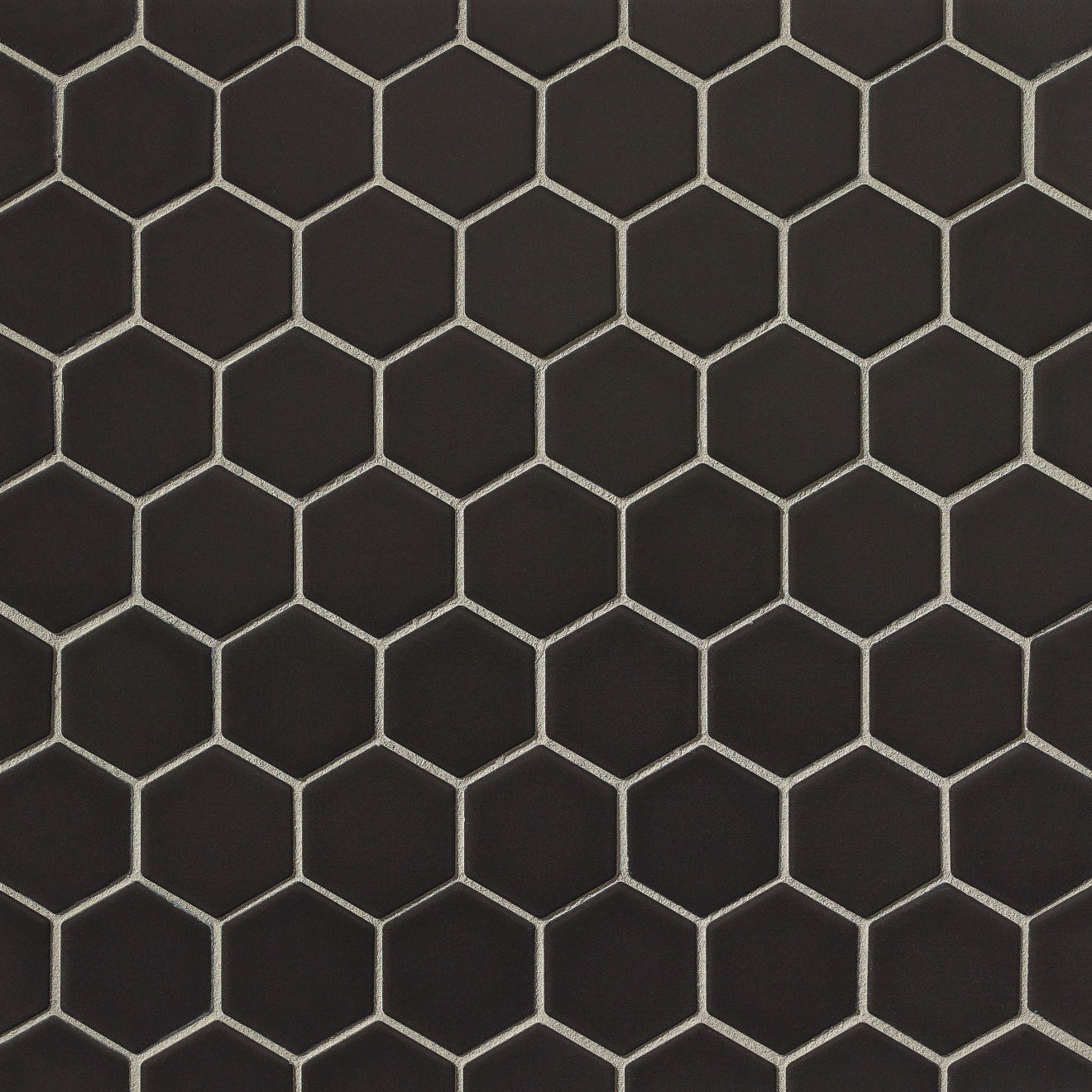 "Le Cafe 2"" x 2"" Floor & Wall Mosaic in Black"