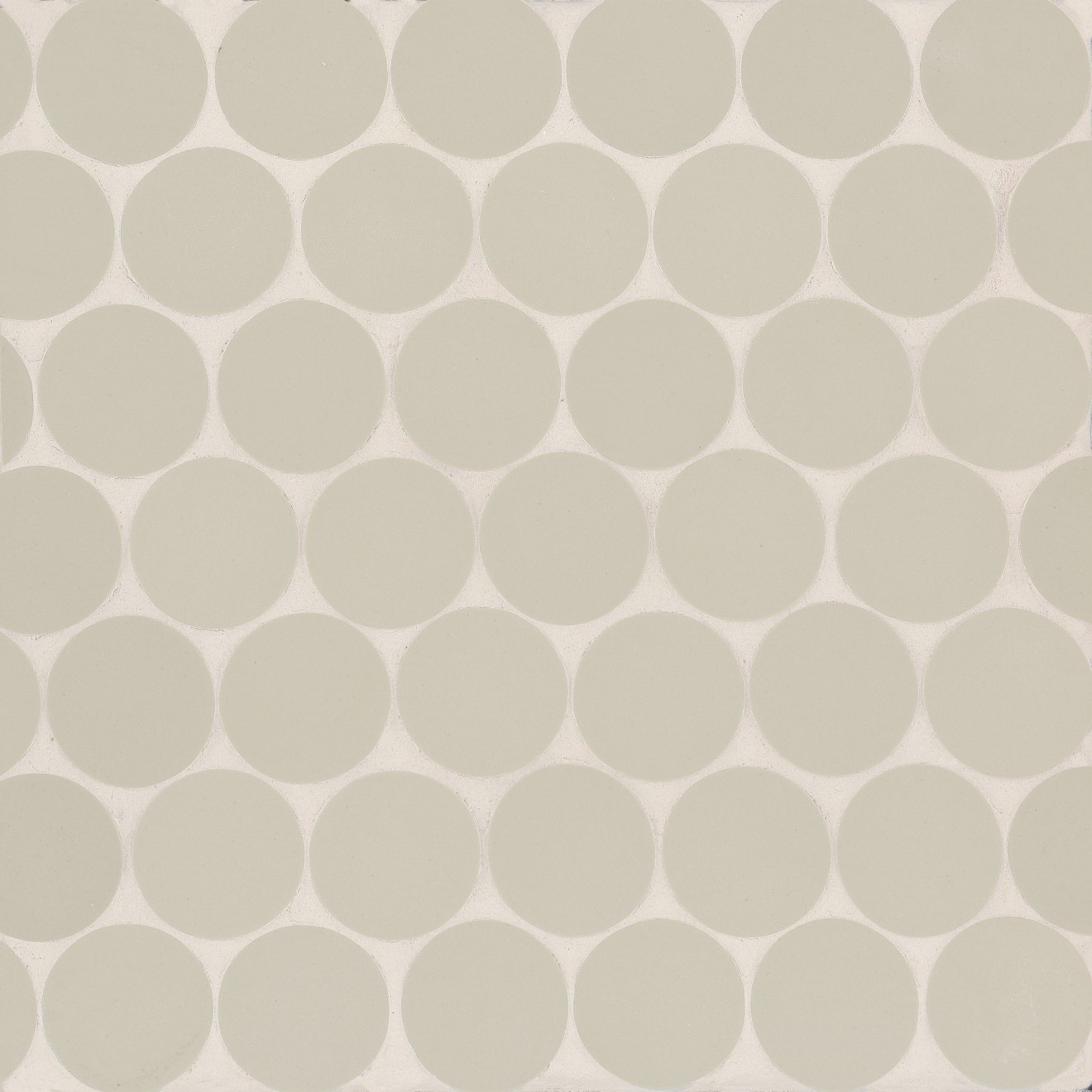 "Makoto 2"" Round Matte Porcelain Floor and Wall Mosaic in Kumo Grey"