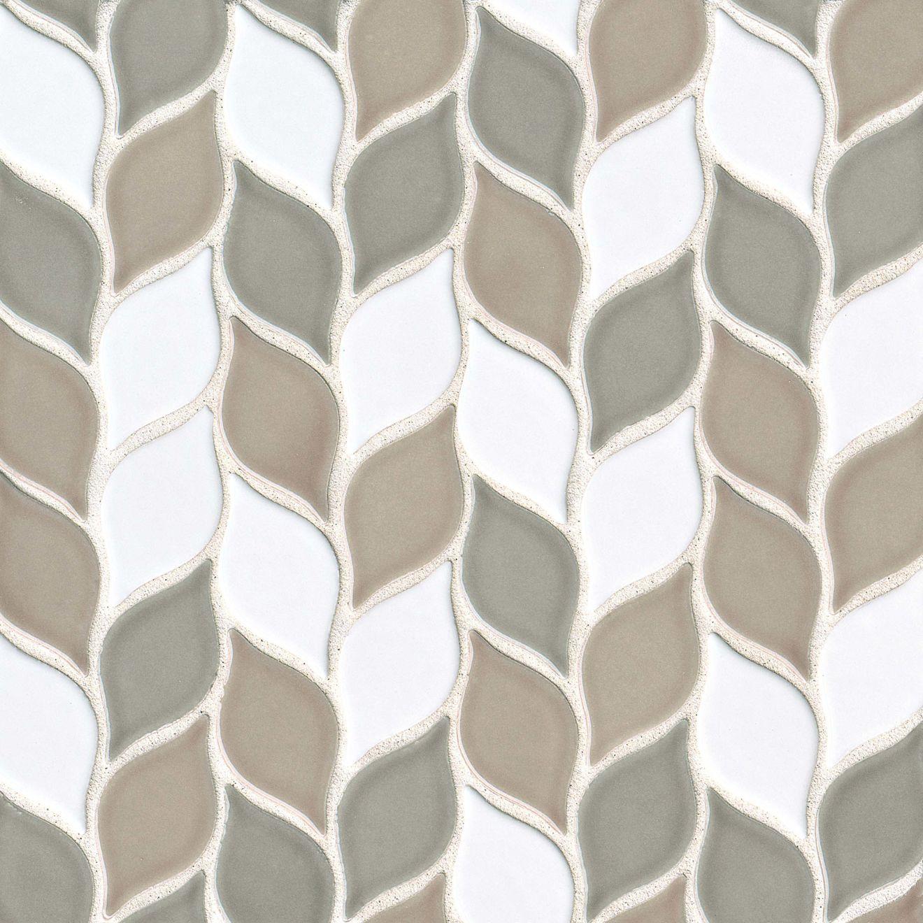"Provincetown 2-13/16"" x 1-7/16"" Floor & Wall Mosaic in Beech Forest Blend"