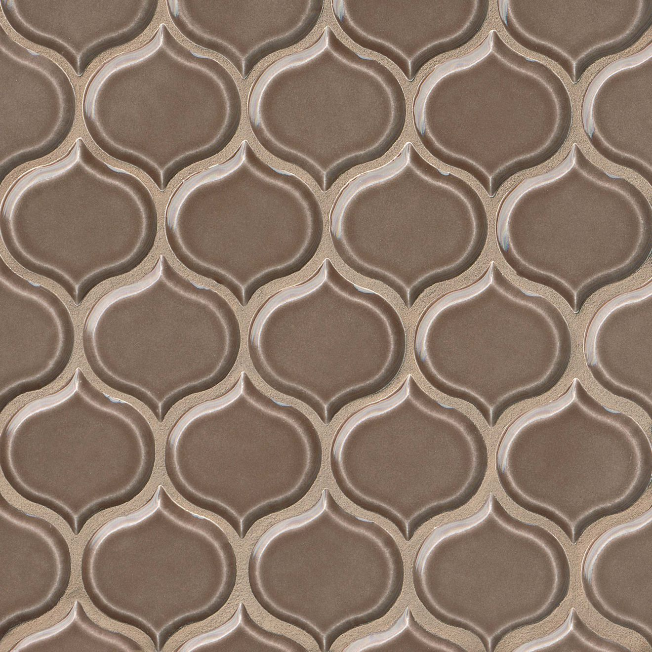 """Provincetown 3-1/16"""" x 2-7/8"""" Wall Mosaic in Brewster Brown"""