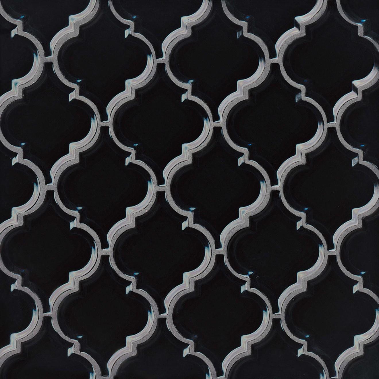 "Provincetown 5-1/8"" x 4-1/16"" Wall Mosaic in Fleet Black"