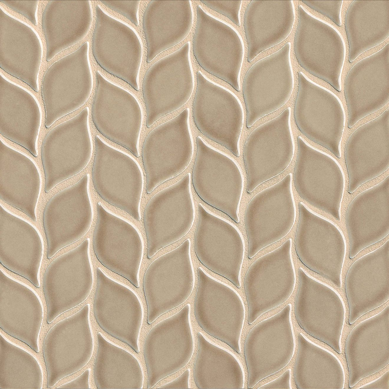 """Provincetown 2-13/16"""" x 1-7/16"""" Floor & Wall Mosaic in Highland Brown"""