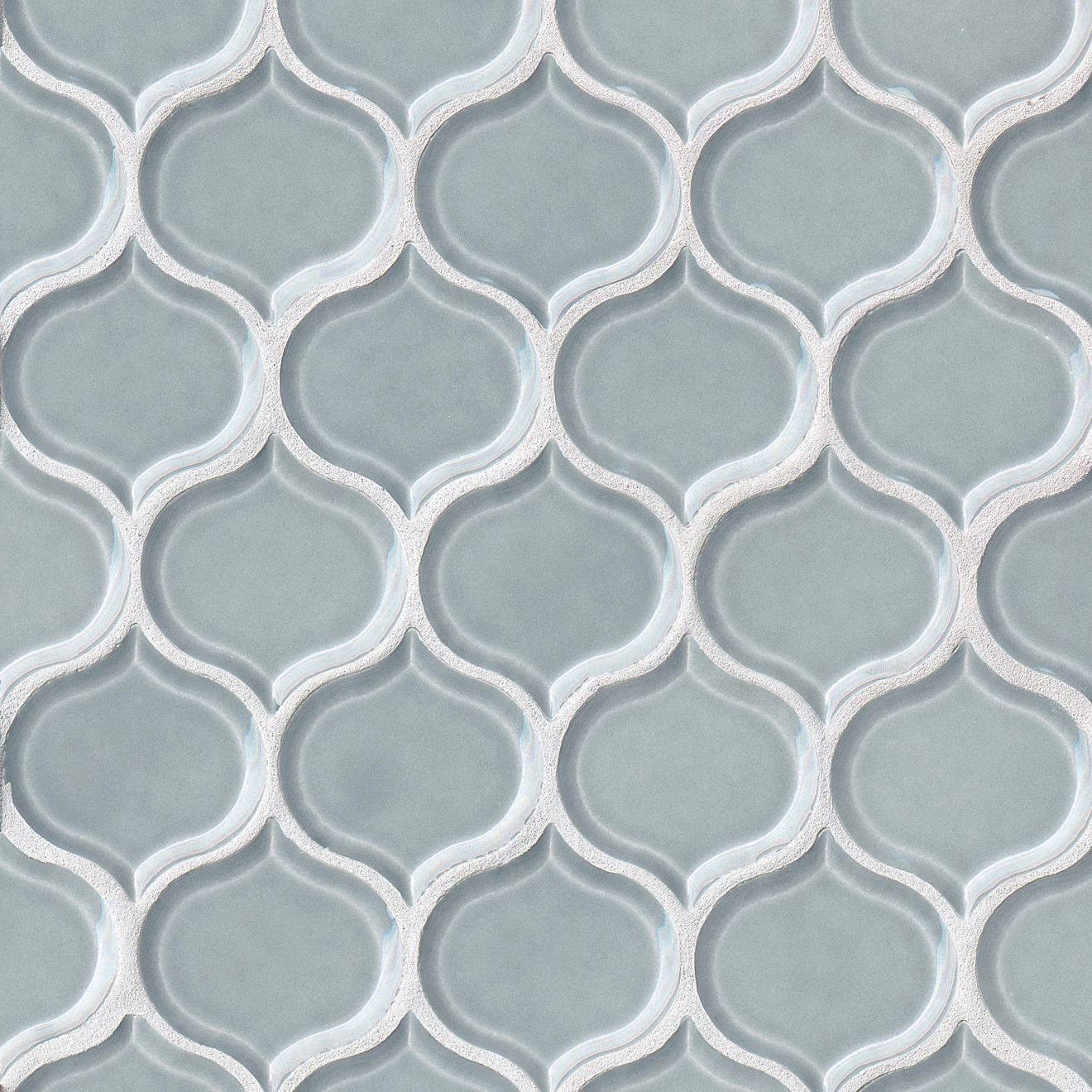 """Provincetown 3-1/16"""" x 2-7/8"""" Wall Mosaic in Surfside Blue"""