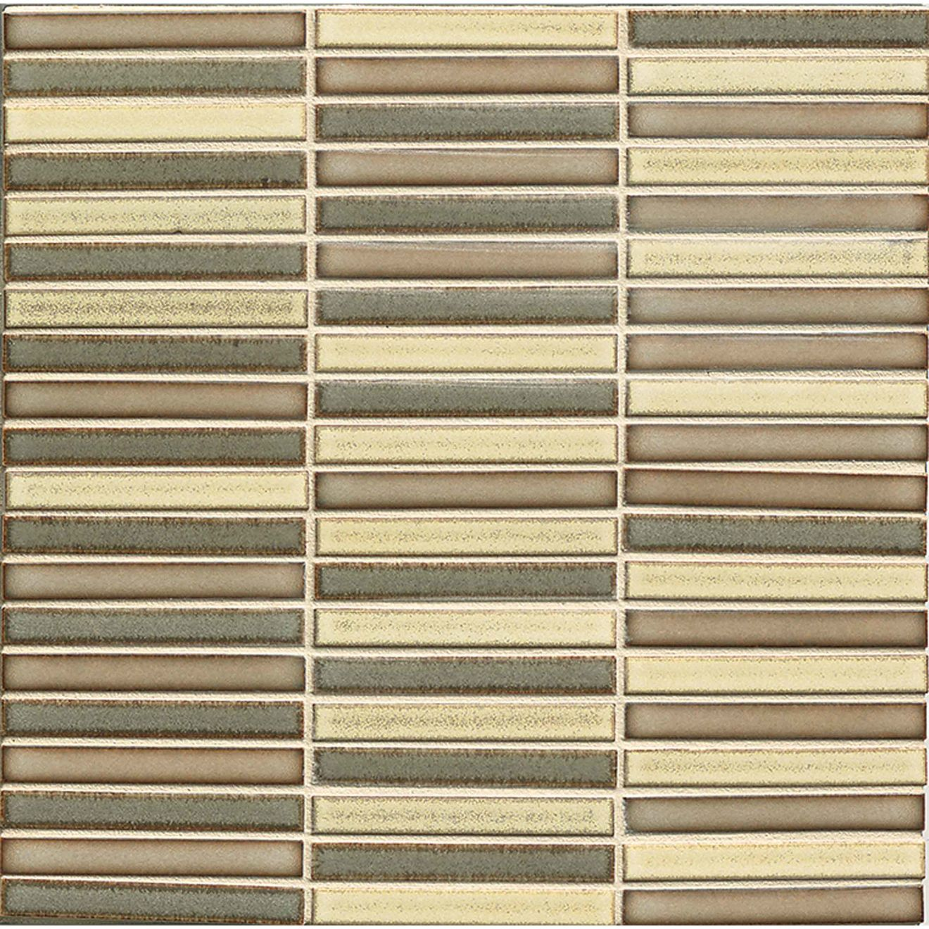 """Shizen 1/2"""" x 4"""" Floor & Wall Mosaic in Heritage Blend"""