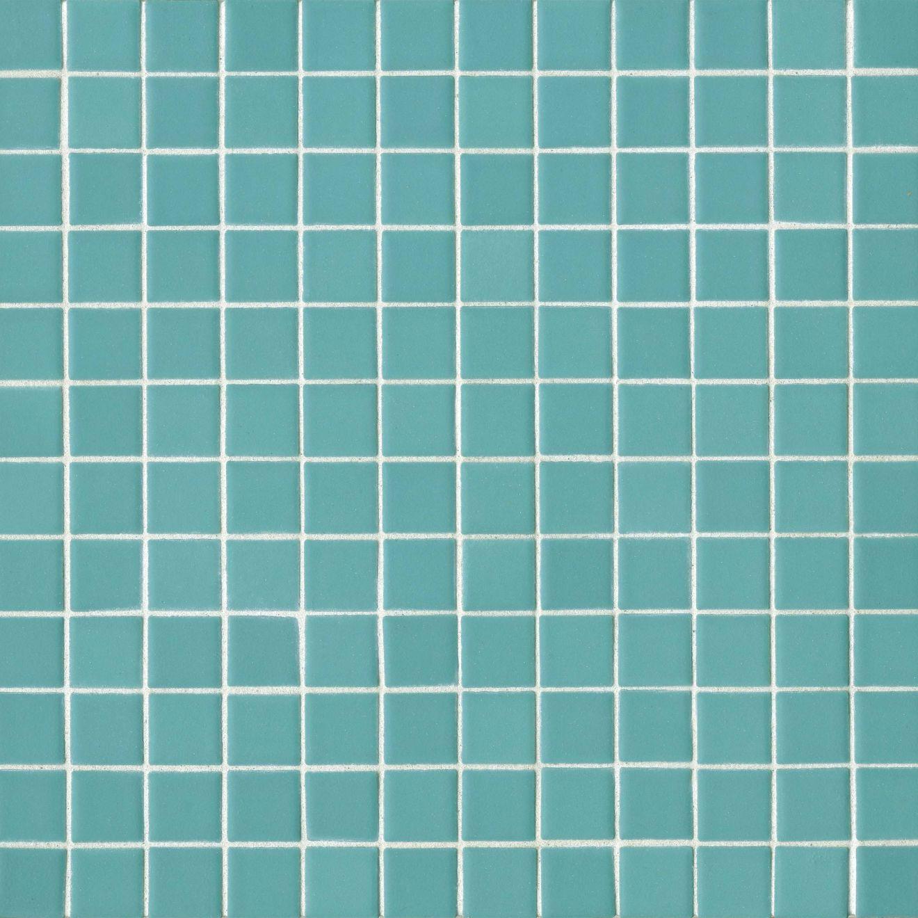 "True 1"" x 1"" Floor & Wall Mosaic in Aqua"