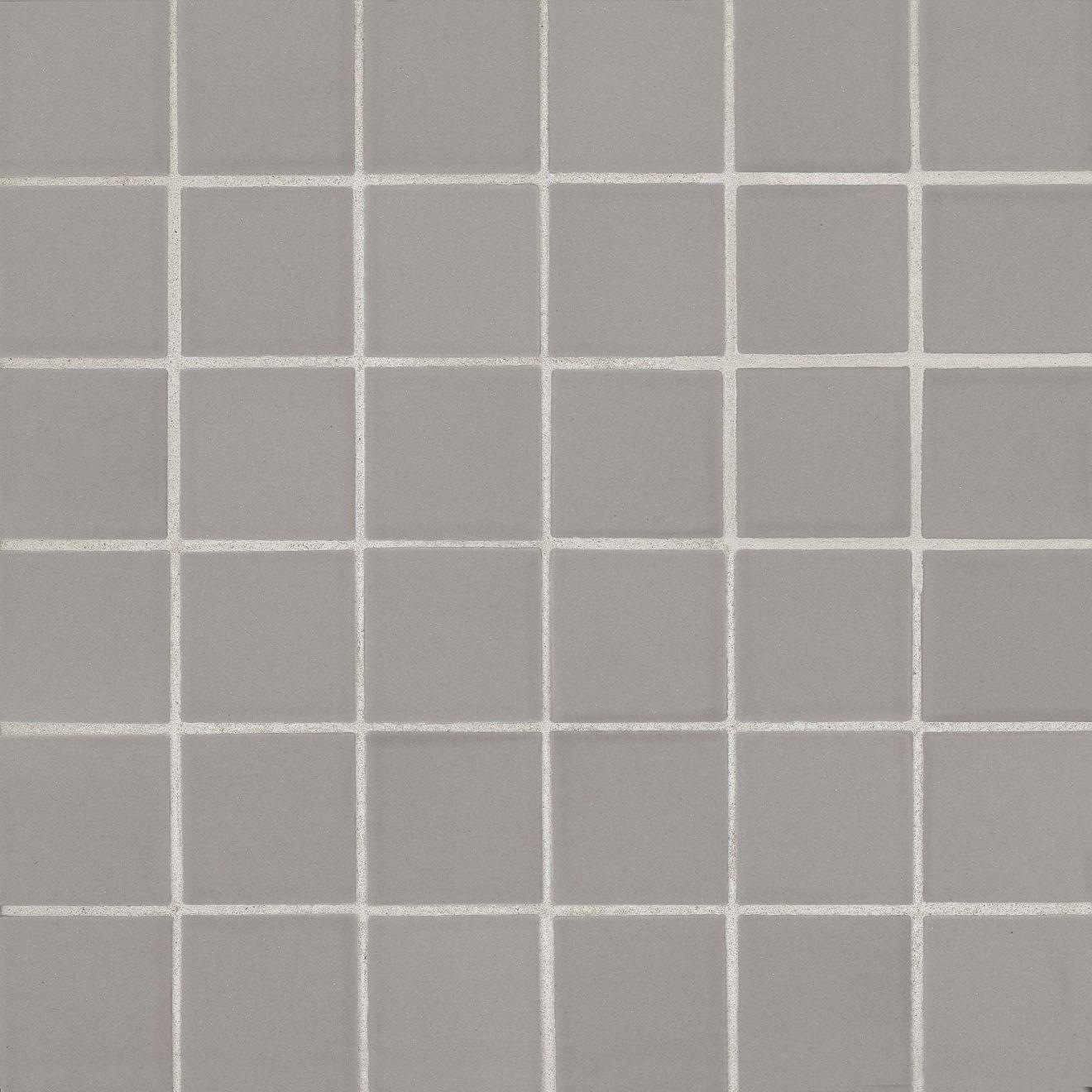 "True 2"" x 2"" Floor & Wall Mosaic in Grey"