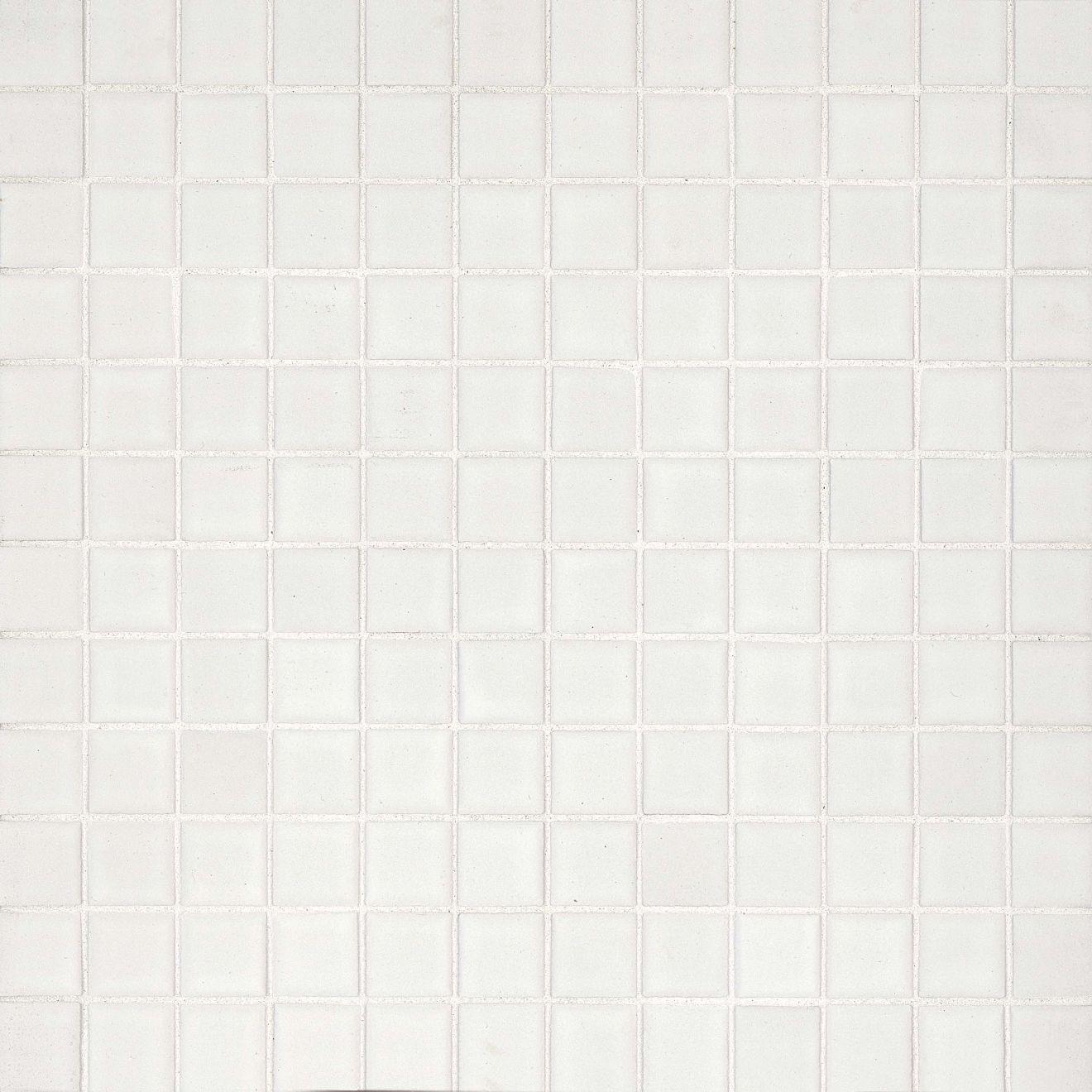 "True 1"" x 1"" Floor & Wall Mosaic in White"