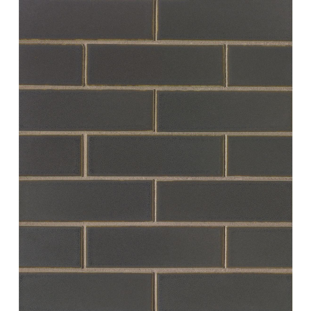 "Zenia 2"" x 6"" Matte Porcelain Floor & Wall Mosaic in Orbit"