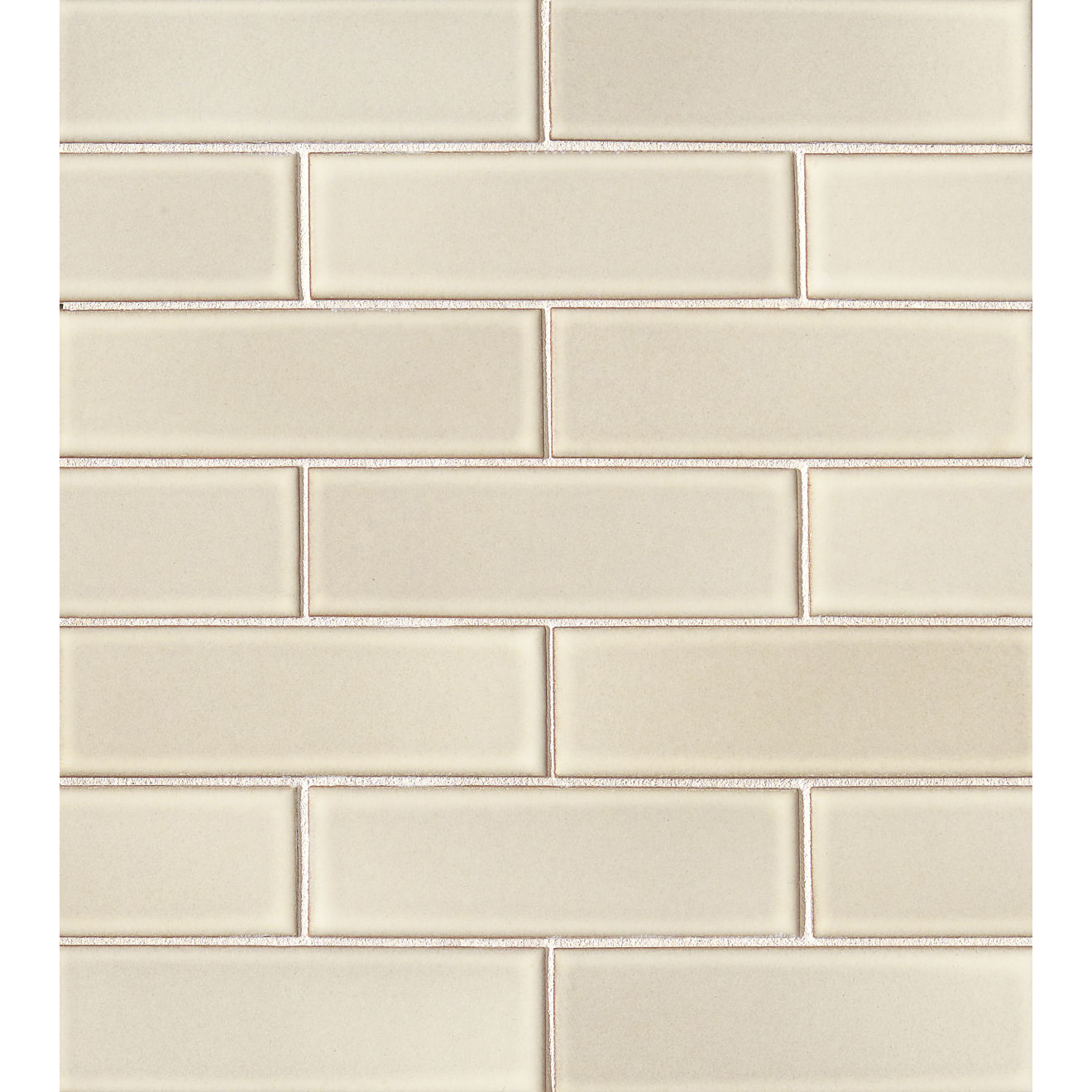 "Zenia 2"" x 6"" Matte Porcelain Floor & Wall Mosaic in Solar"