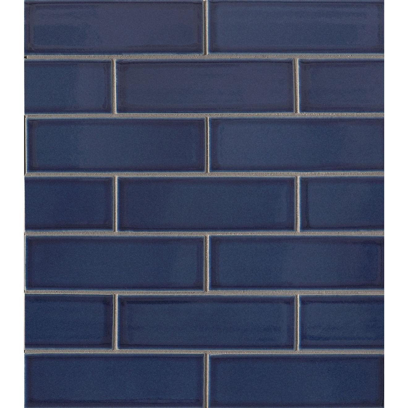 """Zenia 2"""" x 6"""" Porcelain Floor & Wall Mosaic in Tide"""