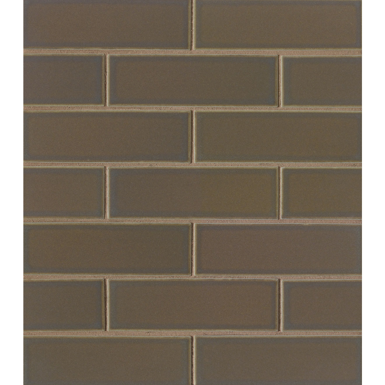 "Zenia 2"" x 6"" Matte Porcelain Floor & Wall Mosaic in Umbra"