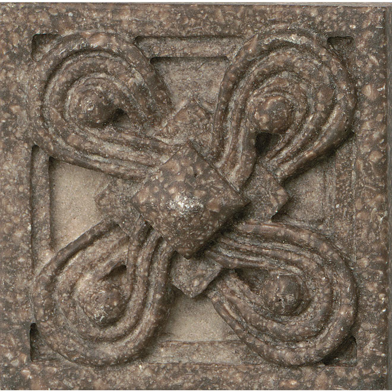 """Marmi Di Napoli 2.25"""" x 2.25"""" Decorative Tile in Bruno Di Pietra"""