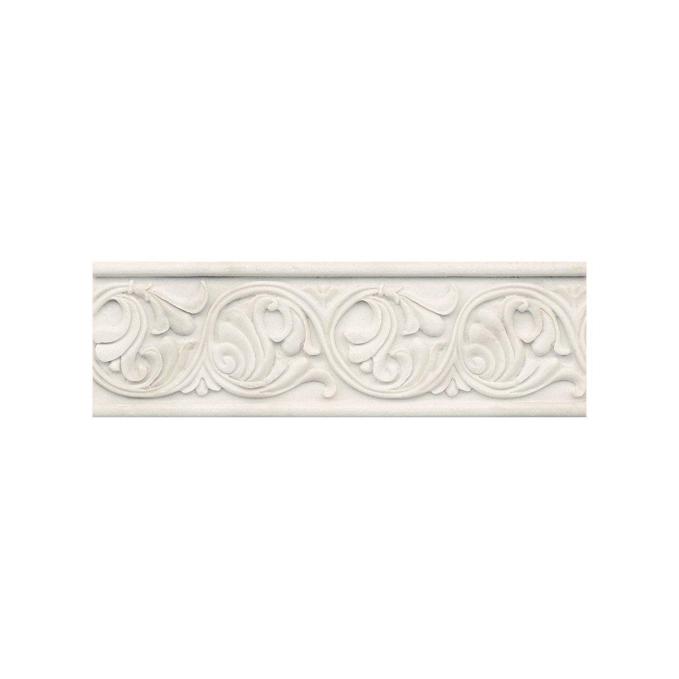 """Marmi Di Napoli 4"""" x 12"""" Decorative Tile in Calacatta"""