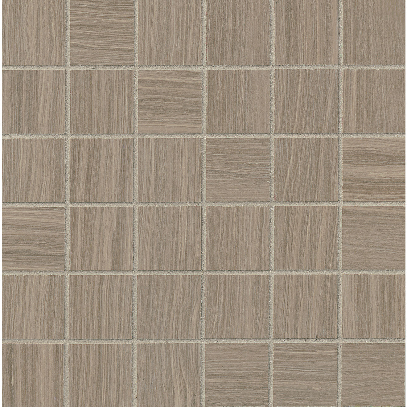 """Matrix 2"""" x 2"""" Floor & Wall Mosaic in Taupe Blend"""