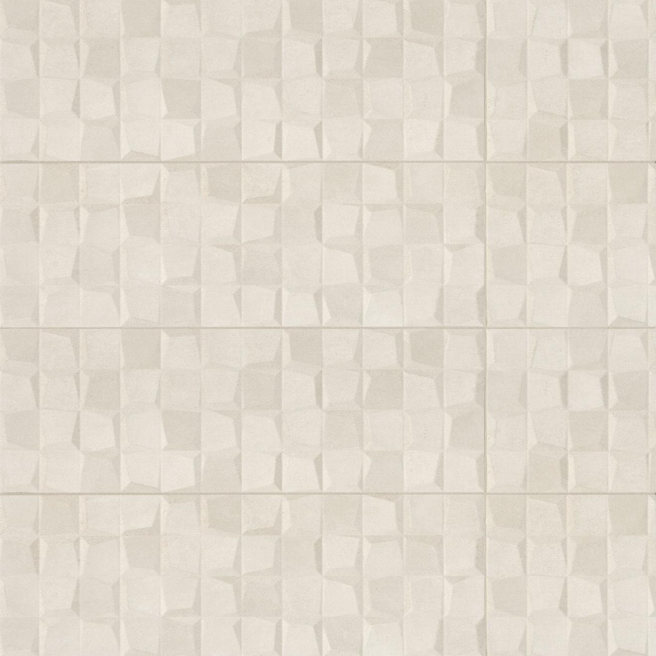 "Calix 12"" x 36"" Matte Ceramic 3D Wall Tile in Beige"