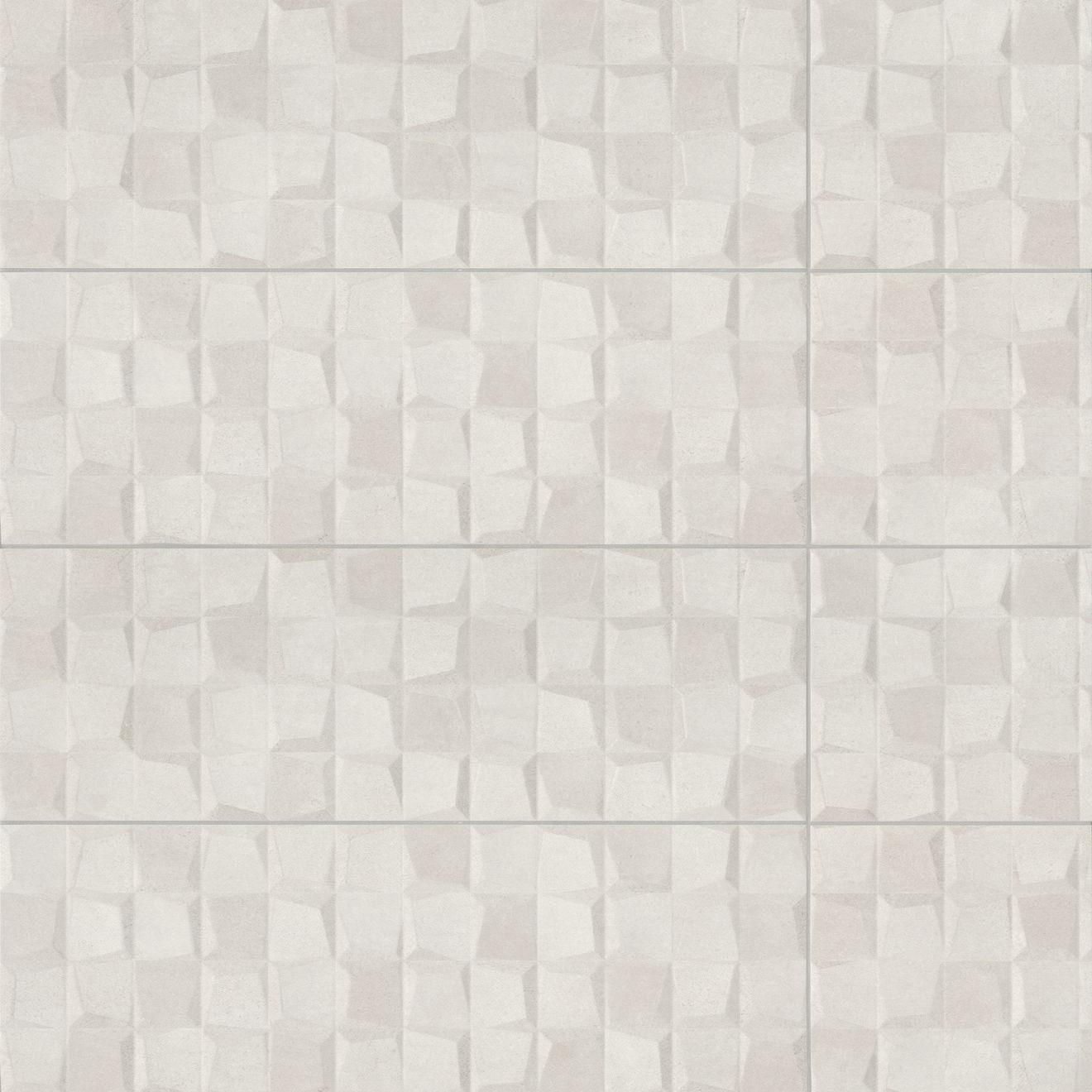 "Calix 12"" x 36"" Matte Ceramic 3D Wall Tile in Grey"