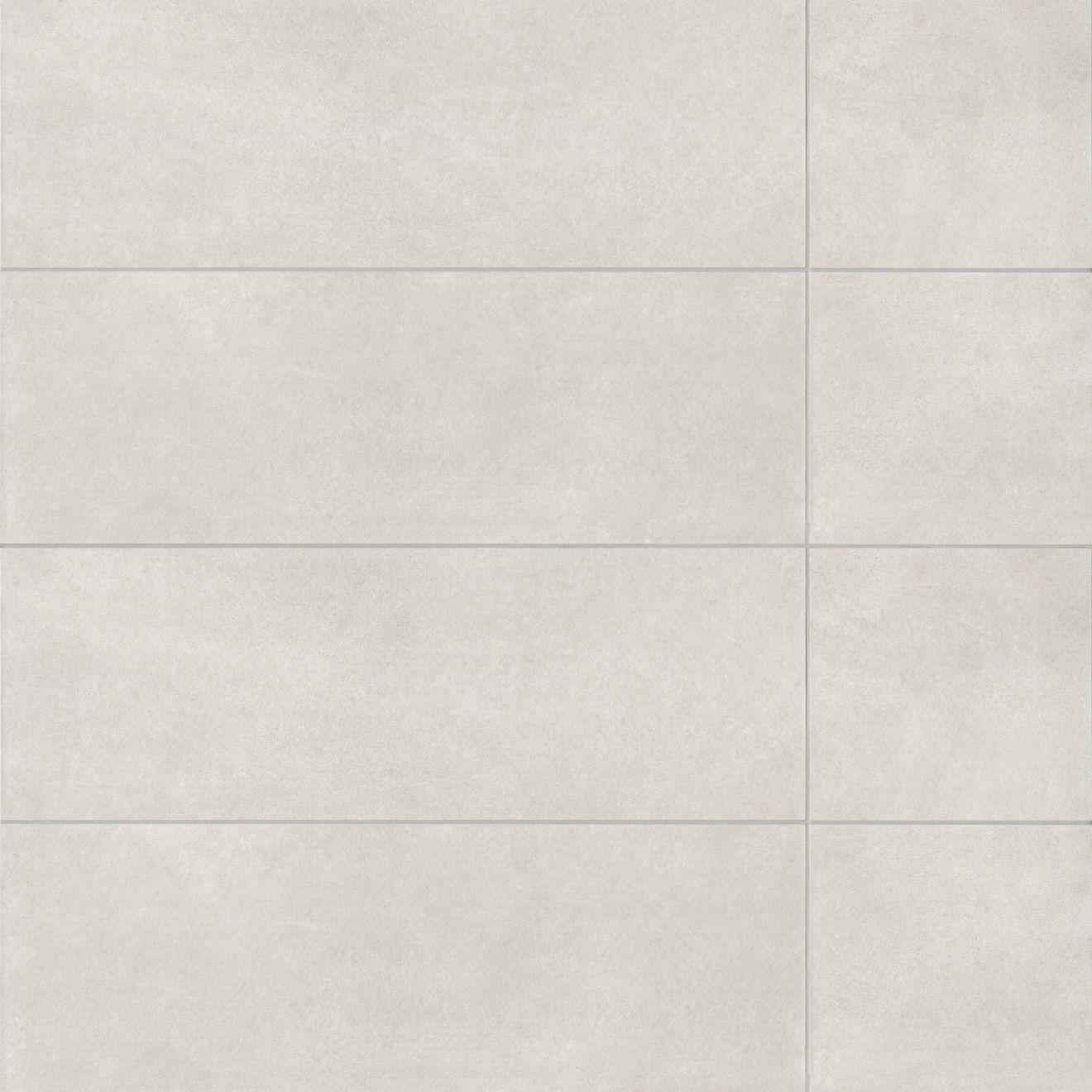 "Calix 12"" x 36"" Matte Ceramic Wall Tile in Grey"