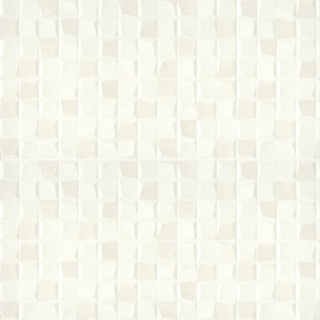 "Calix 12"" x 36"" Matte Ceramic 3D Wall Tile in White"