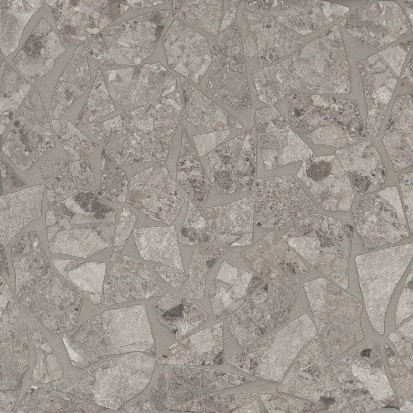 Frammenta Floor & Wall Mosaic in Dark Grey
