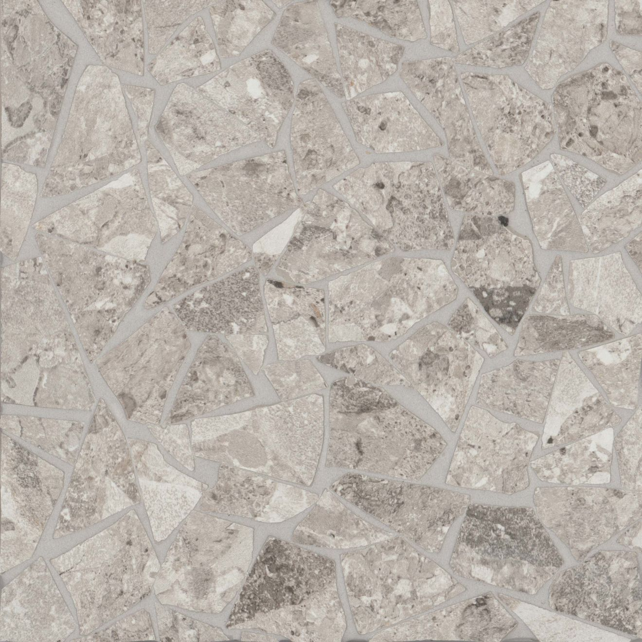 Frammenta Floor & Wall Mosaic in Light Grey