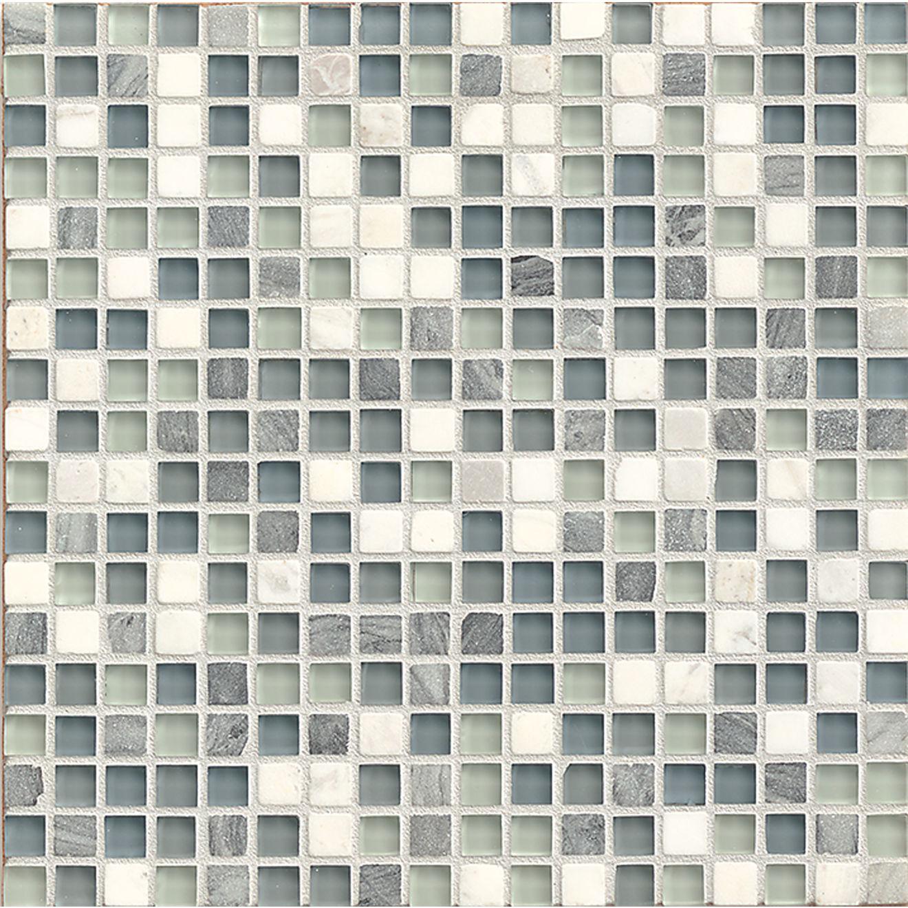 "Eclipse 5/8"" x 5/8"" Wall Mosaic in Marina"