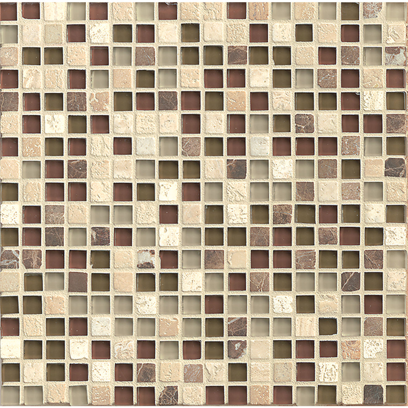 "Eclipse 5/8"" x 5/8"" Wall Mosaic in Merlot"