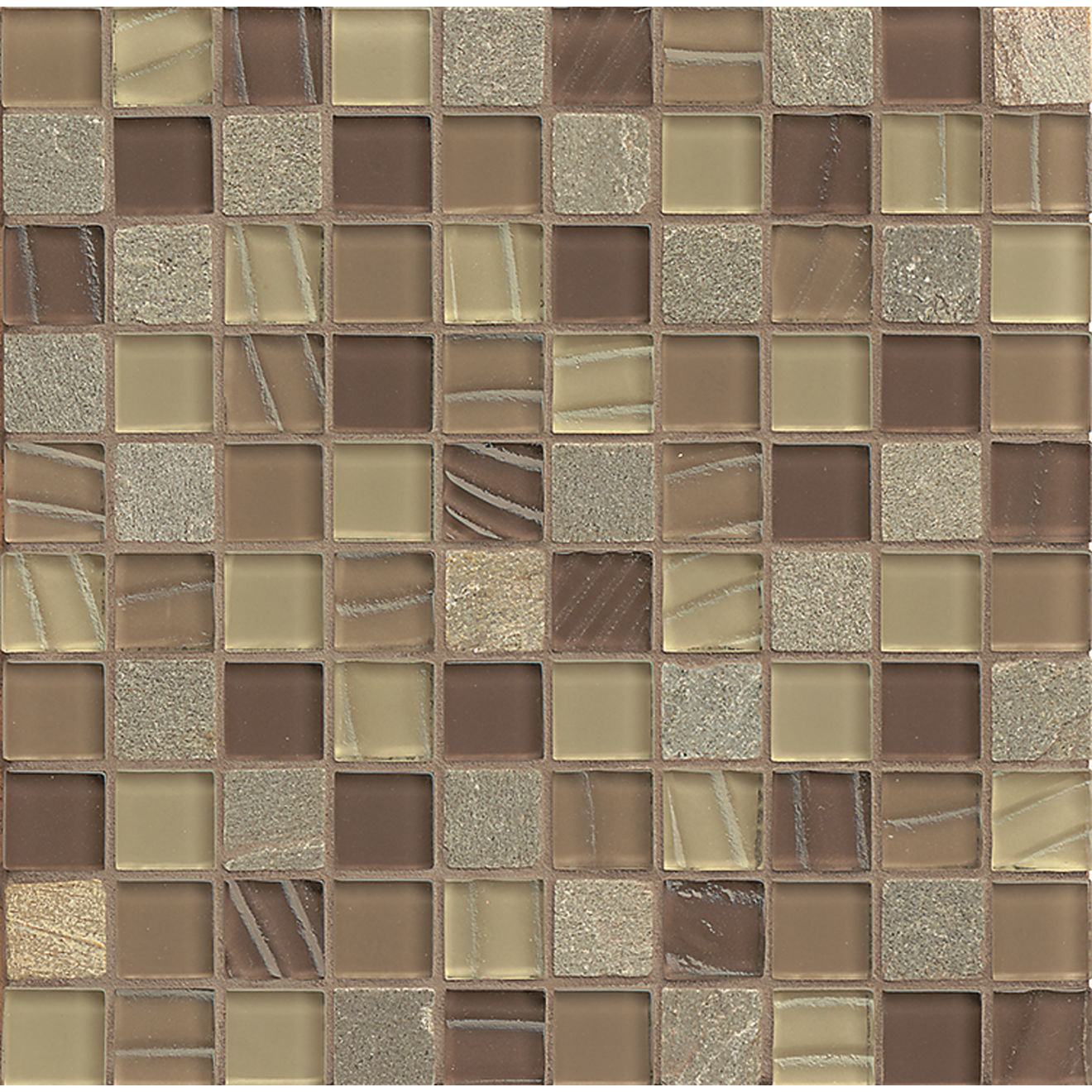 "Elume 1-1/4"" x 1-1/4"" Wall Mosaic in Maple Rum"