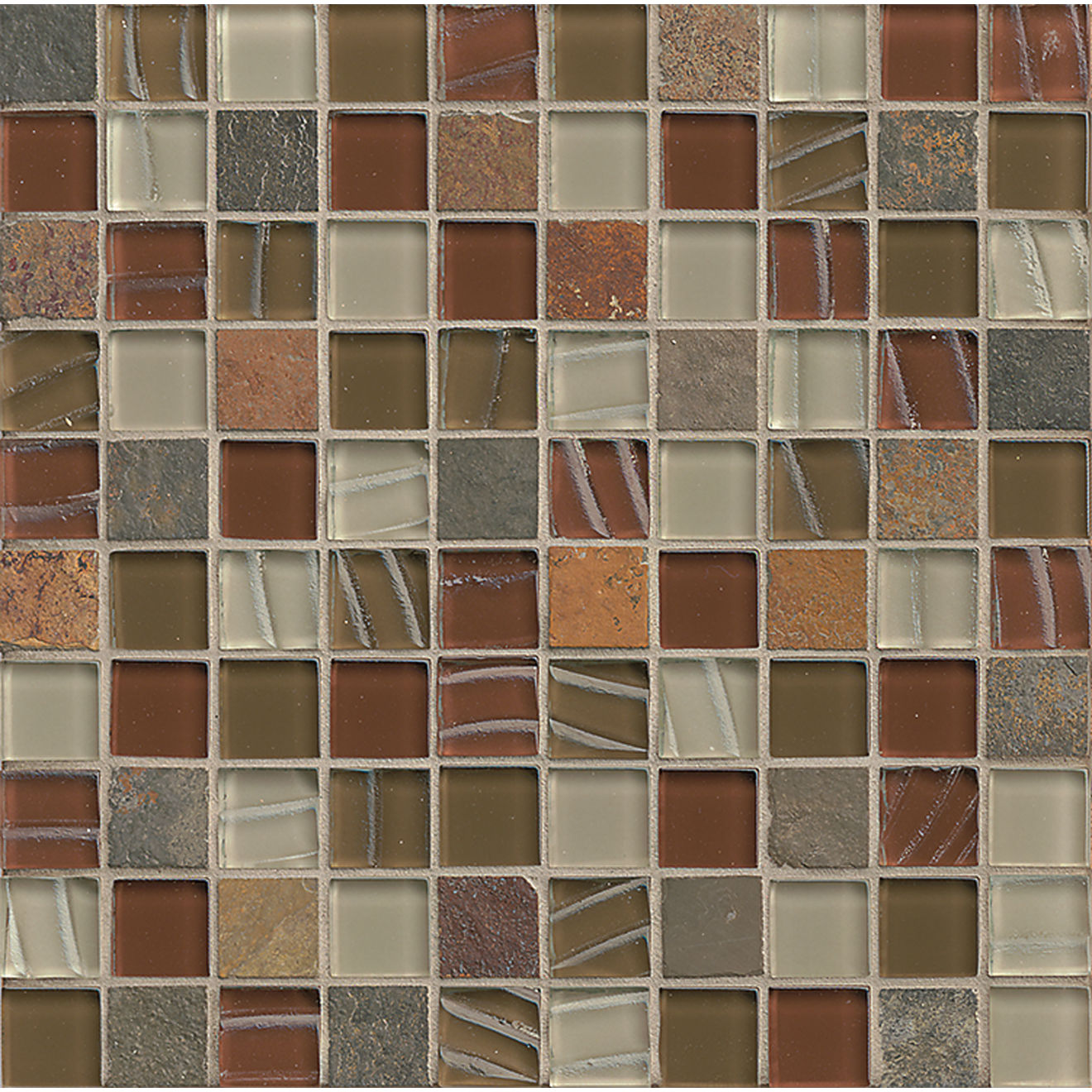 "Elume 1-1/4"" x 1-1/4"" Wall Mosaic in Ruby Silk"