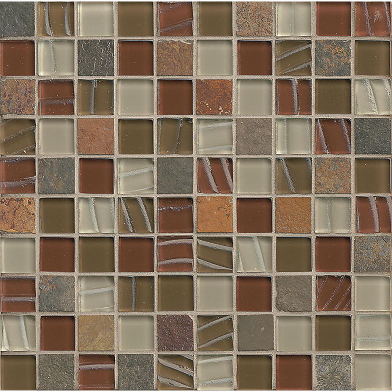 """Elume 1-1/4"""" x 1-1/4"""" Wall Mosaic in Ruby Silk"""
