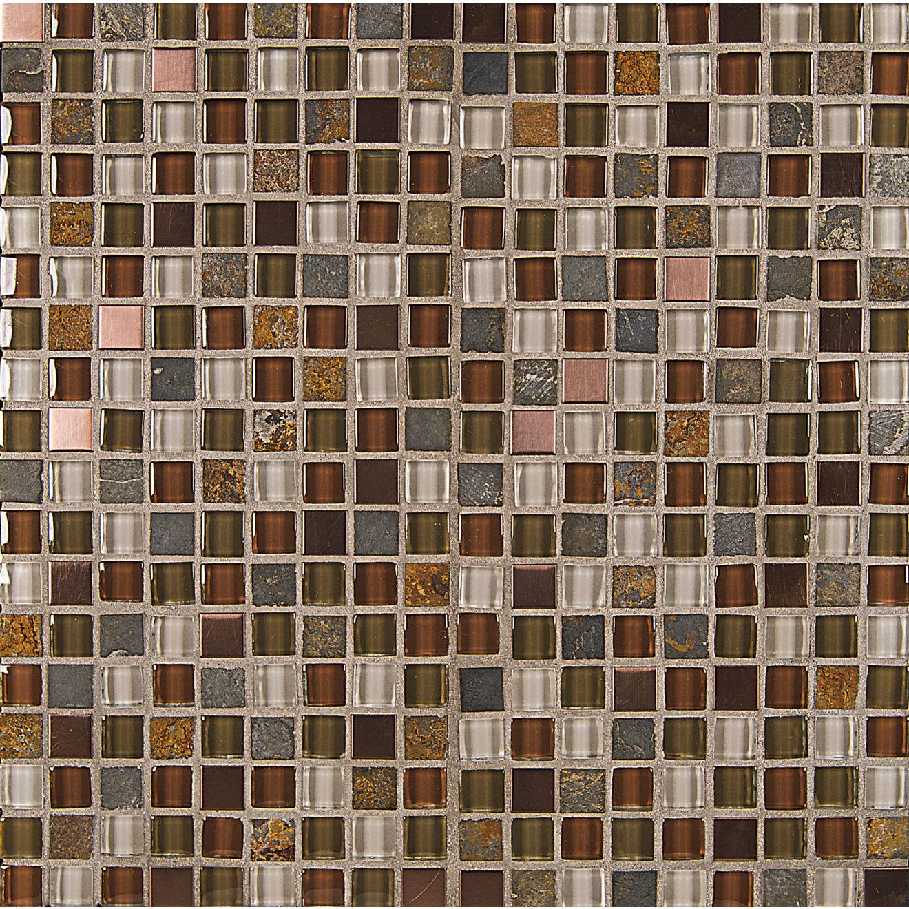 """Elume 5/8"""" x 5/8"""" Wall Mosaic in Ruby Silk"""