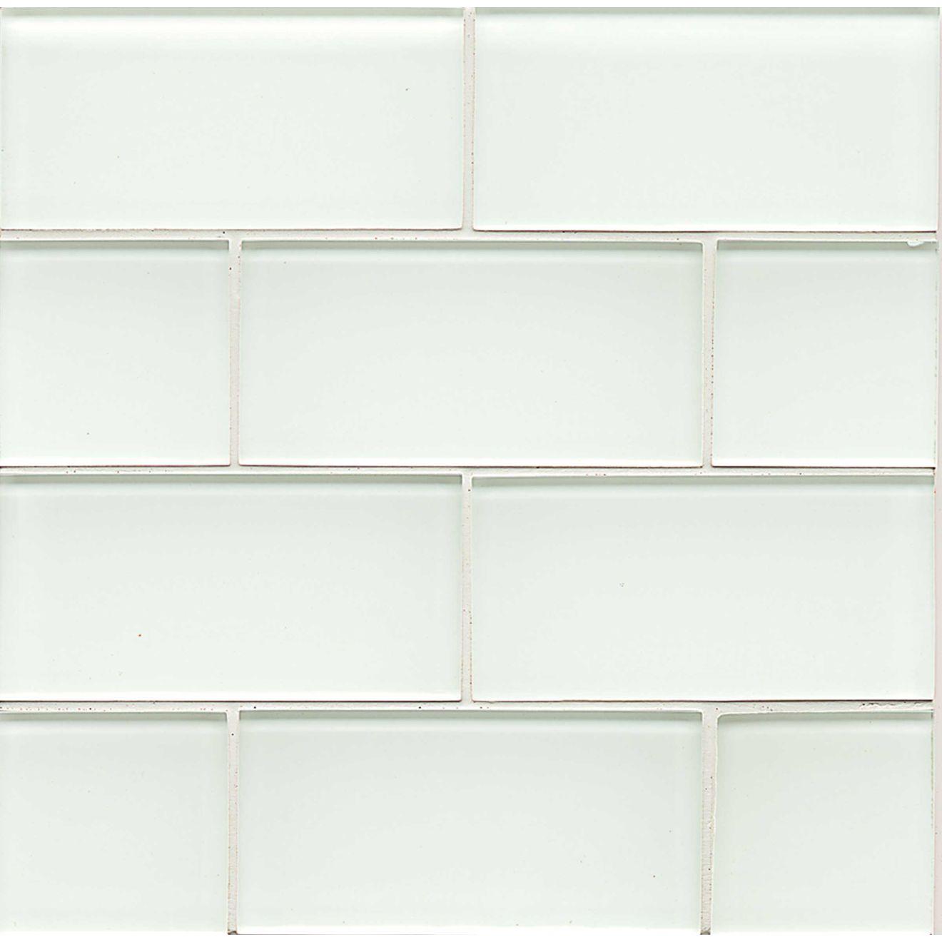 "Hamptons 3"" x 6"" Wall Tile in White Linen"
