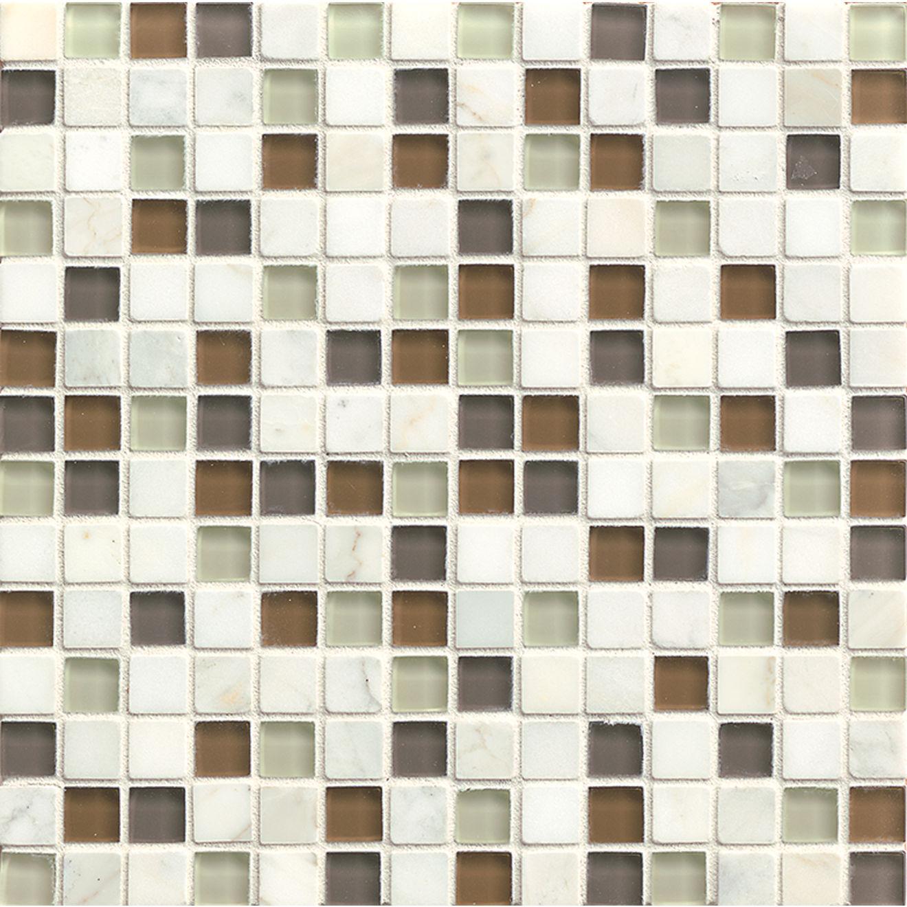 "Interlude 3/4"" x 3/4"" Wall Mosaic in Encore"