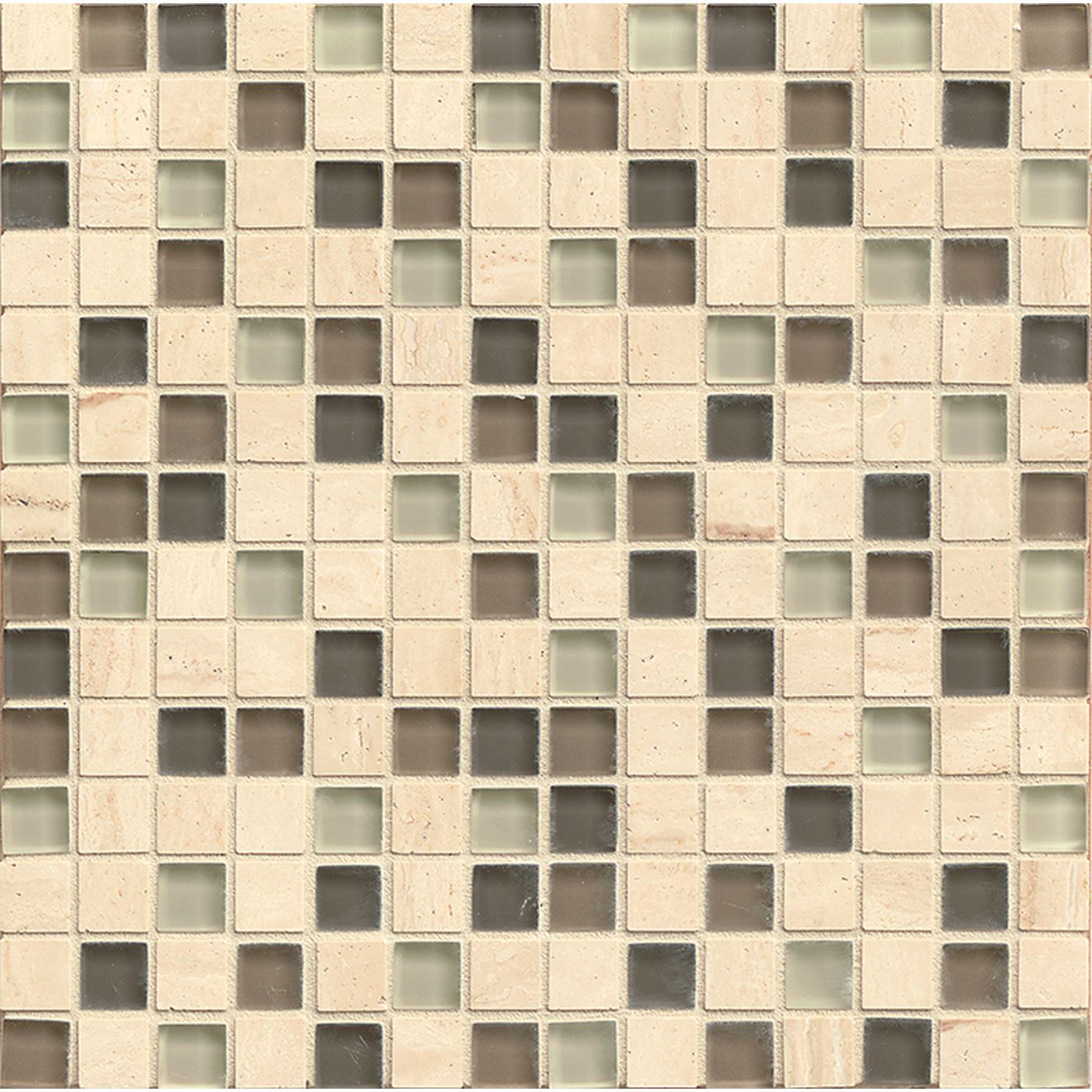 "Interlude 3/4"" x 3/4"" Wall Mosaic in Falsetto"