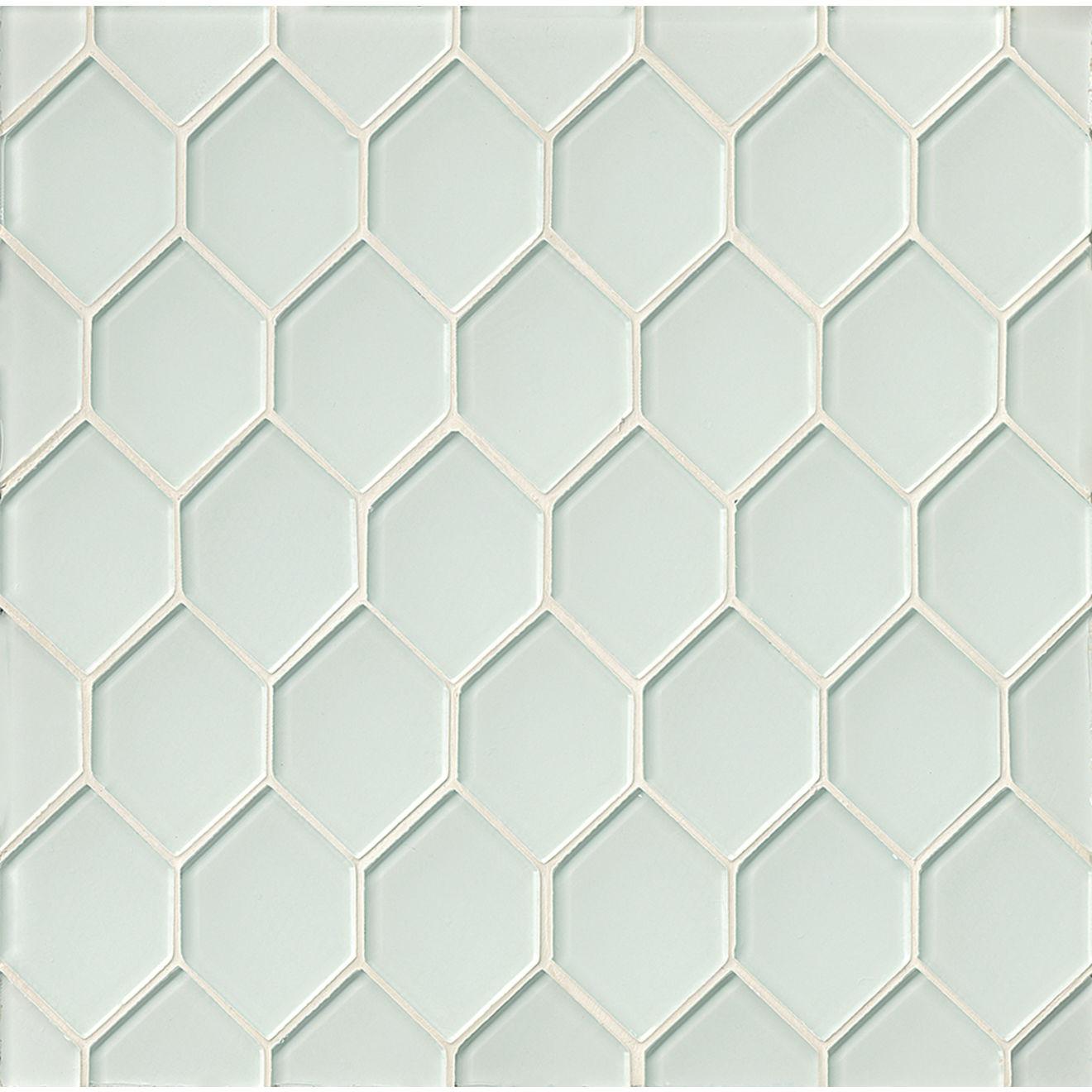 Mallorca Glass Wall Mosaic in White Linen