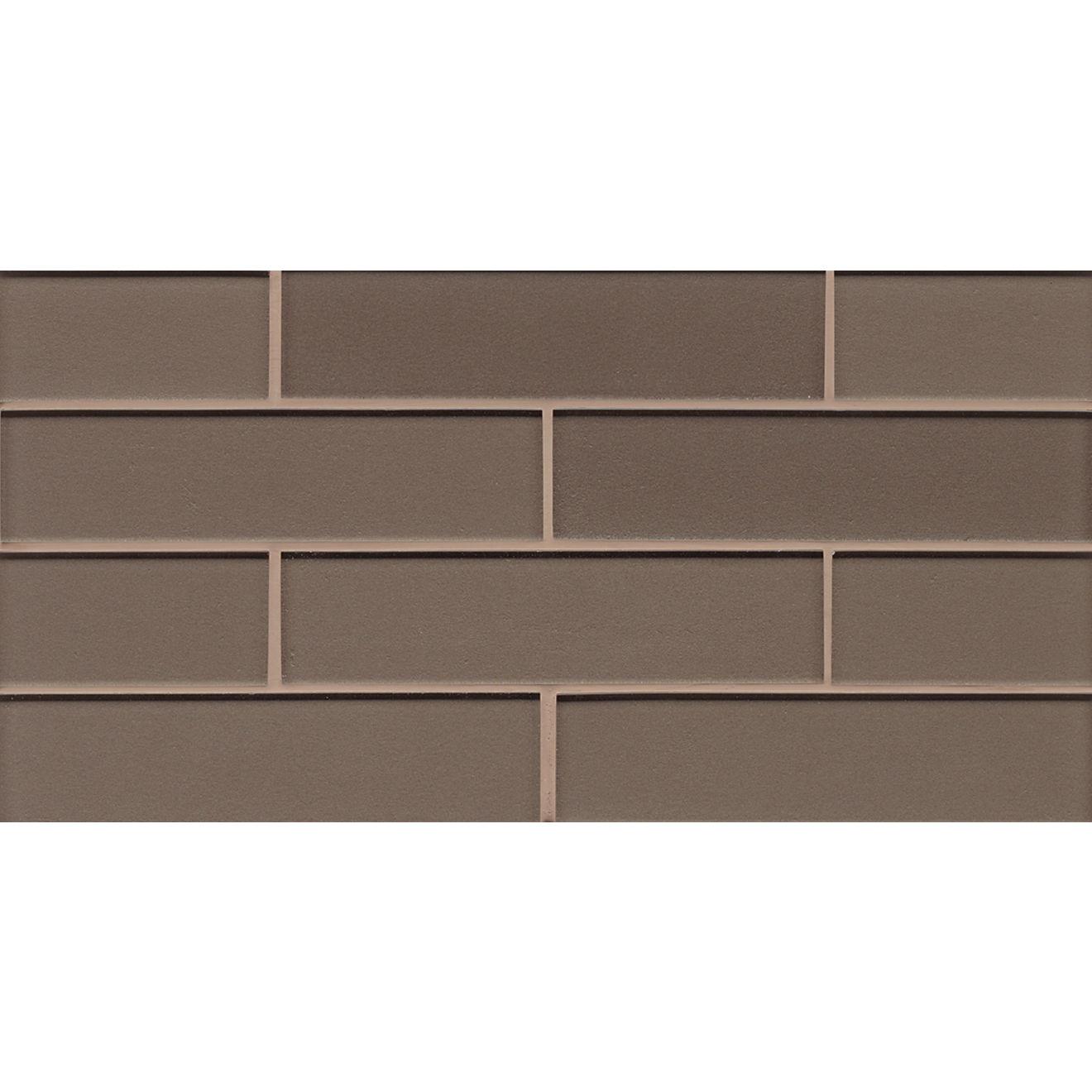 """Manhattan 2"""" x 8"""" Wall Mosaic in Ash"""